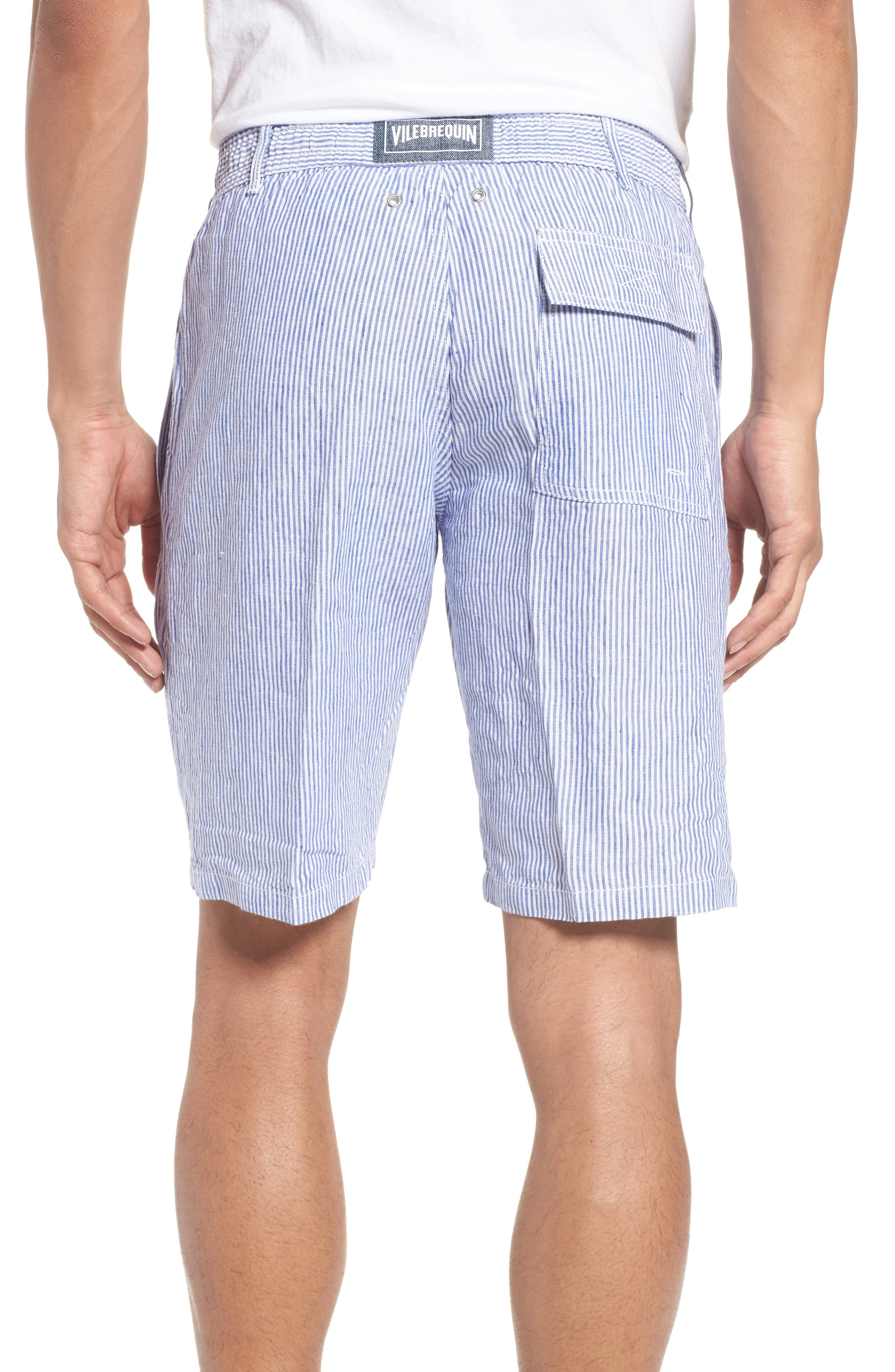 Alternate Image 2  - Vilebrequin Stripe Linen Bermuda Shorts