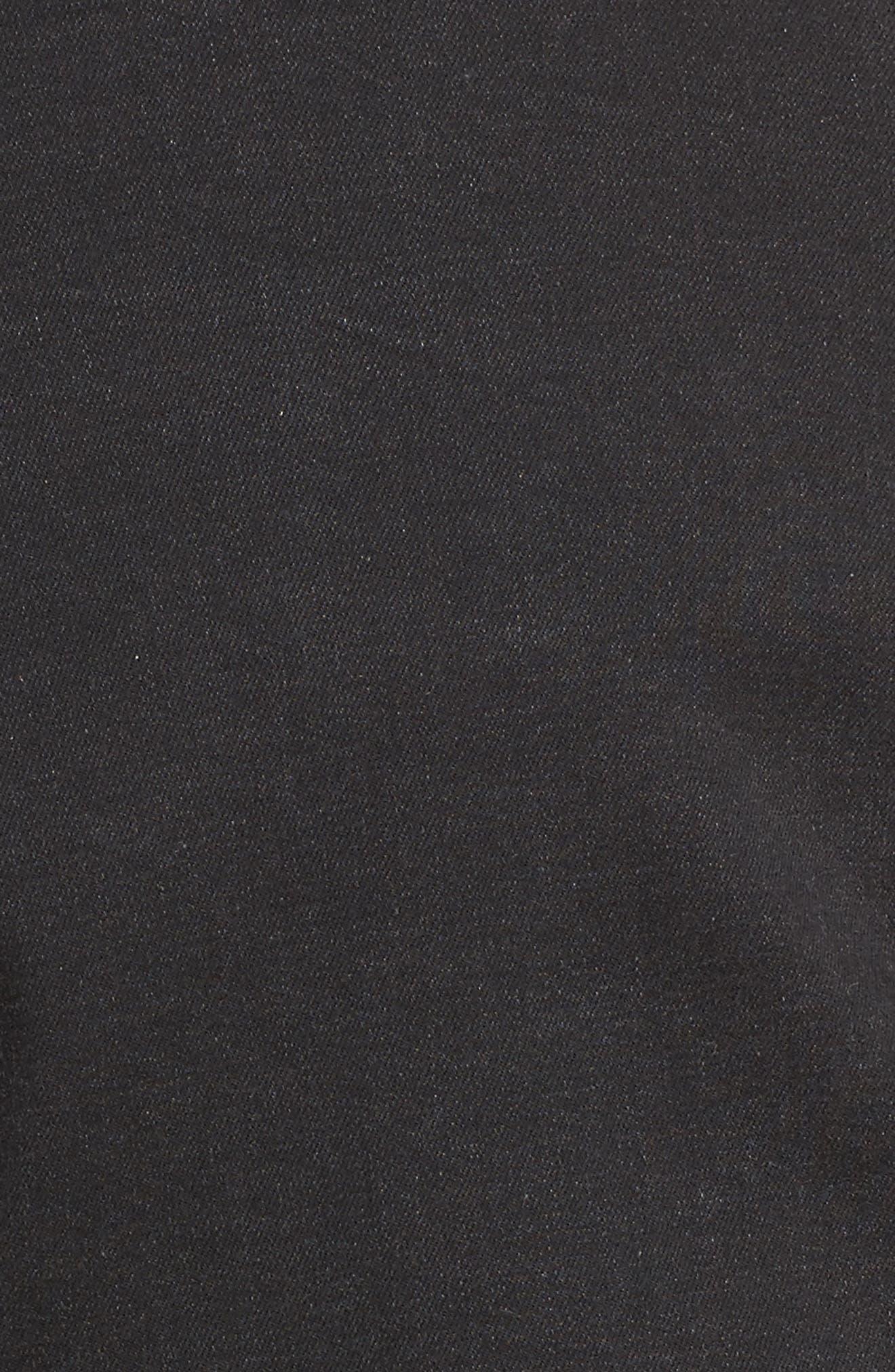 Katinka Denim Jacket,                             Alternate thumbnail 5, color,                             Black