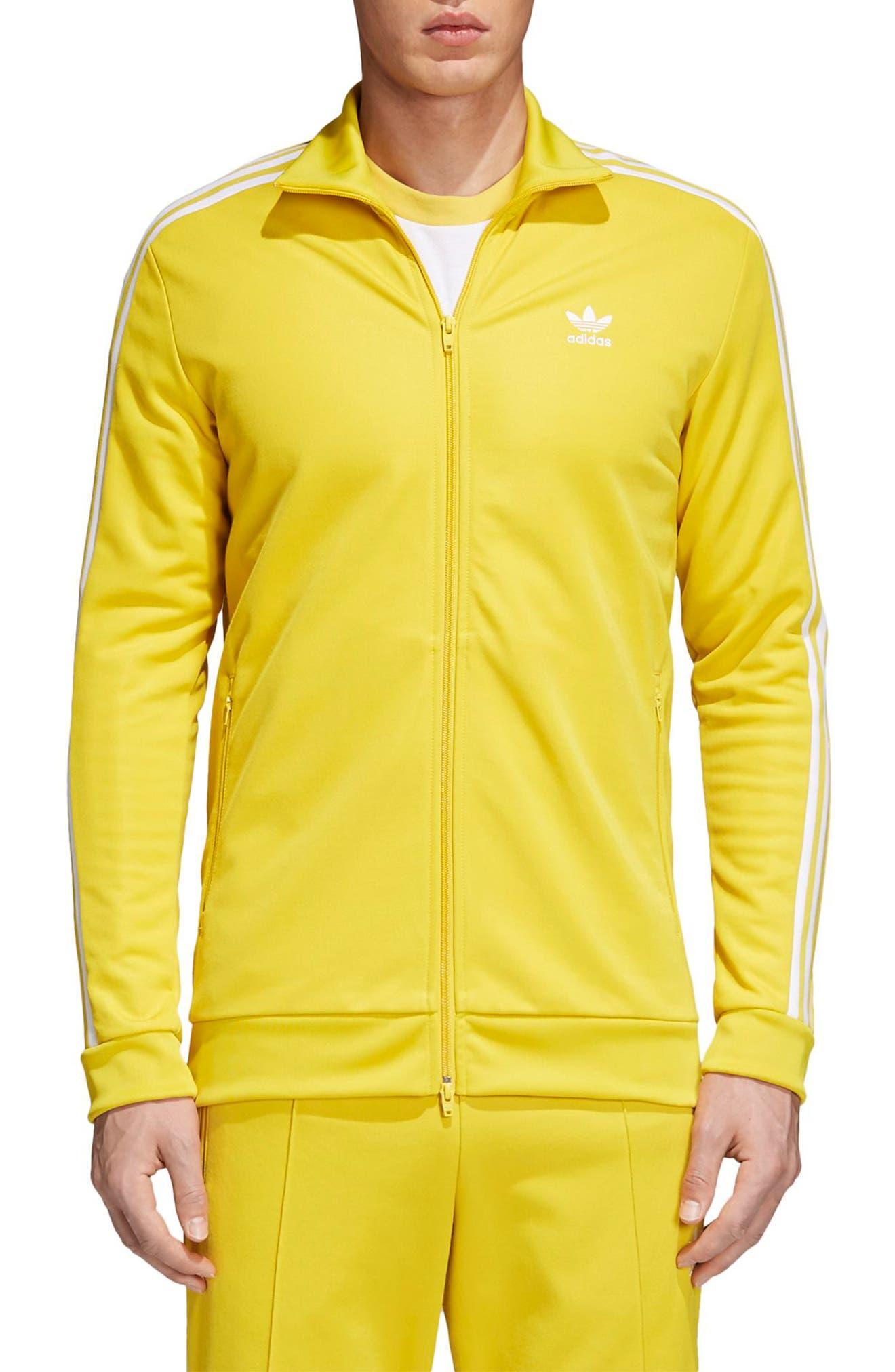 adidas Original Franz Beckenbauer Track Jacket,                             Main thumbnail 1, color,                             Tribe Yellow