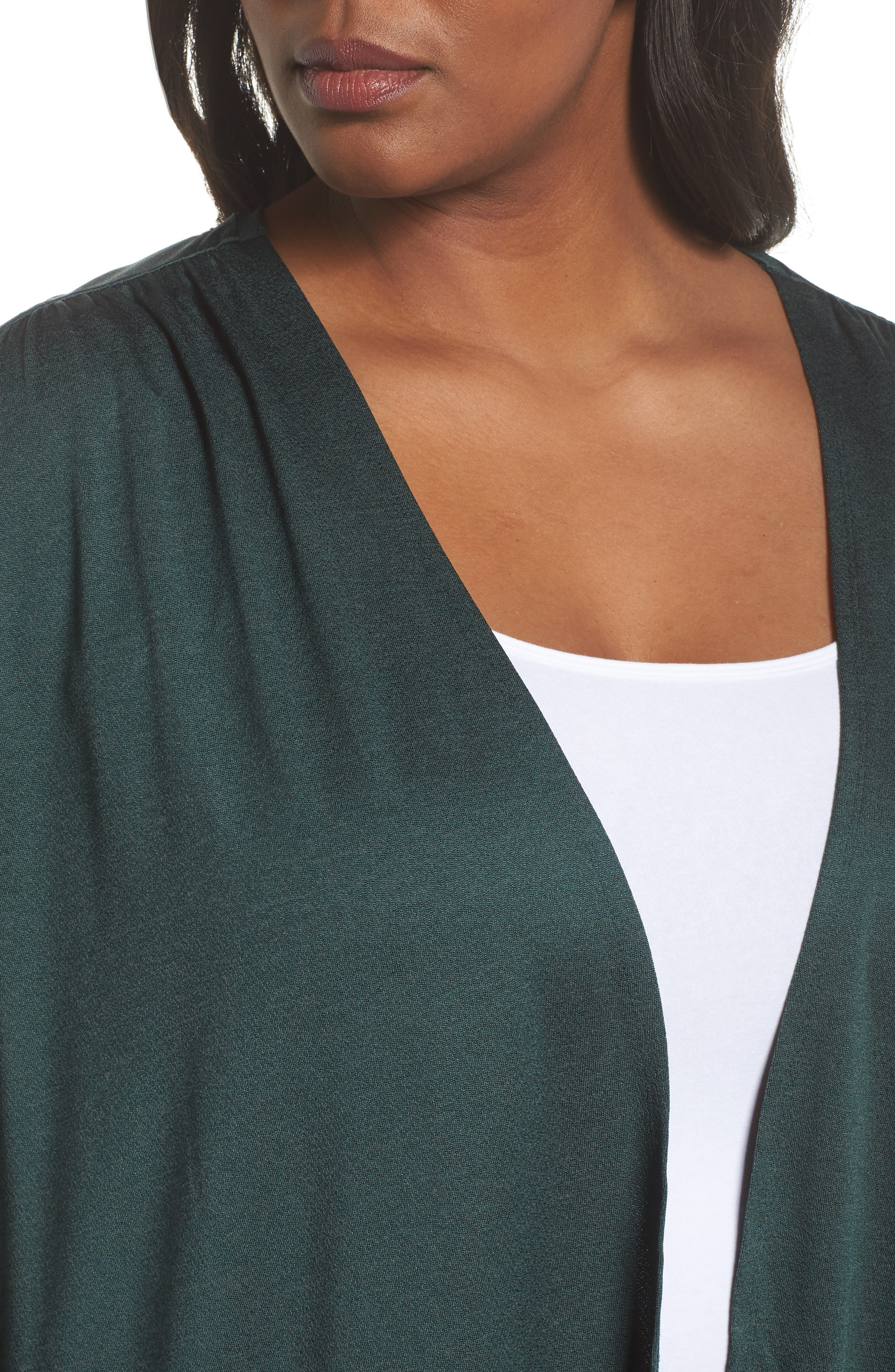 Cocoon Cardigan,                             Alternate thumbnail 4, color,                             Green Bug