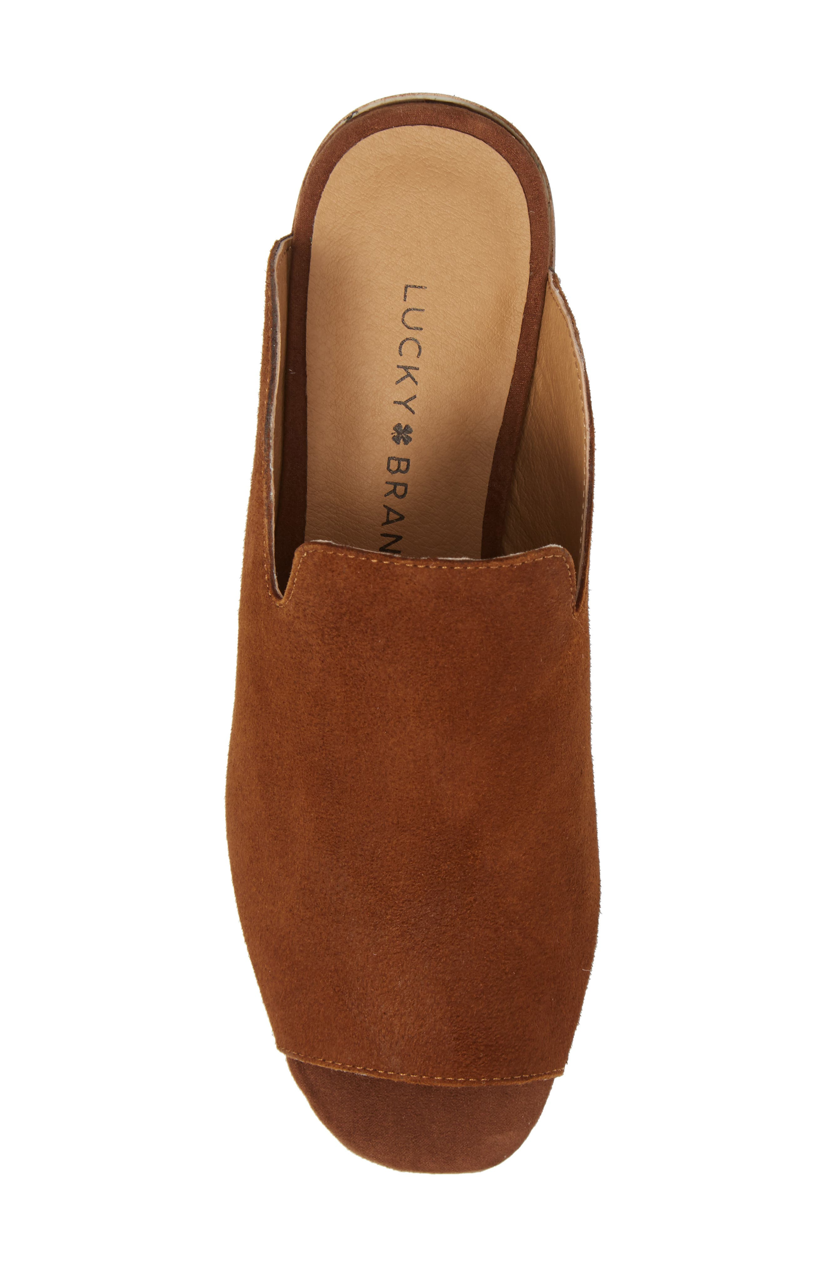 Noomrie Sandal,                             Alternate thumbnail 5, color,                             Cedar Leather