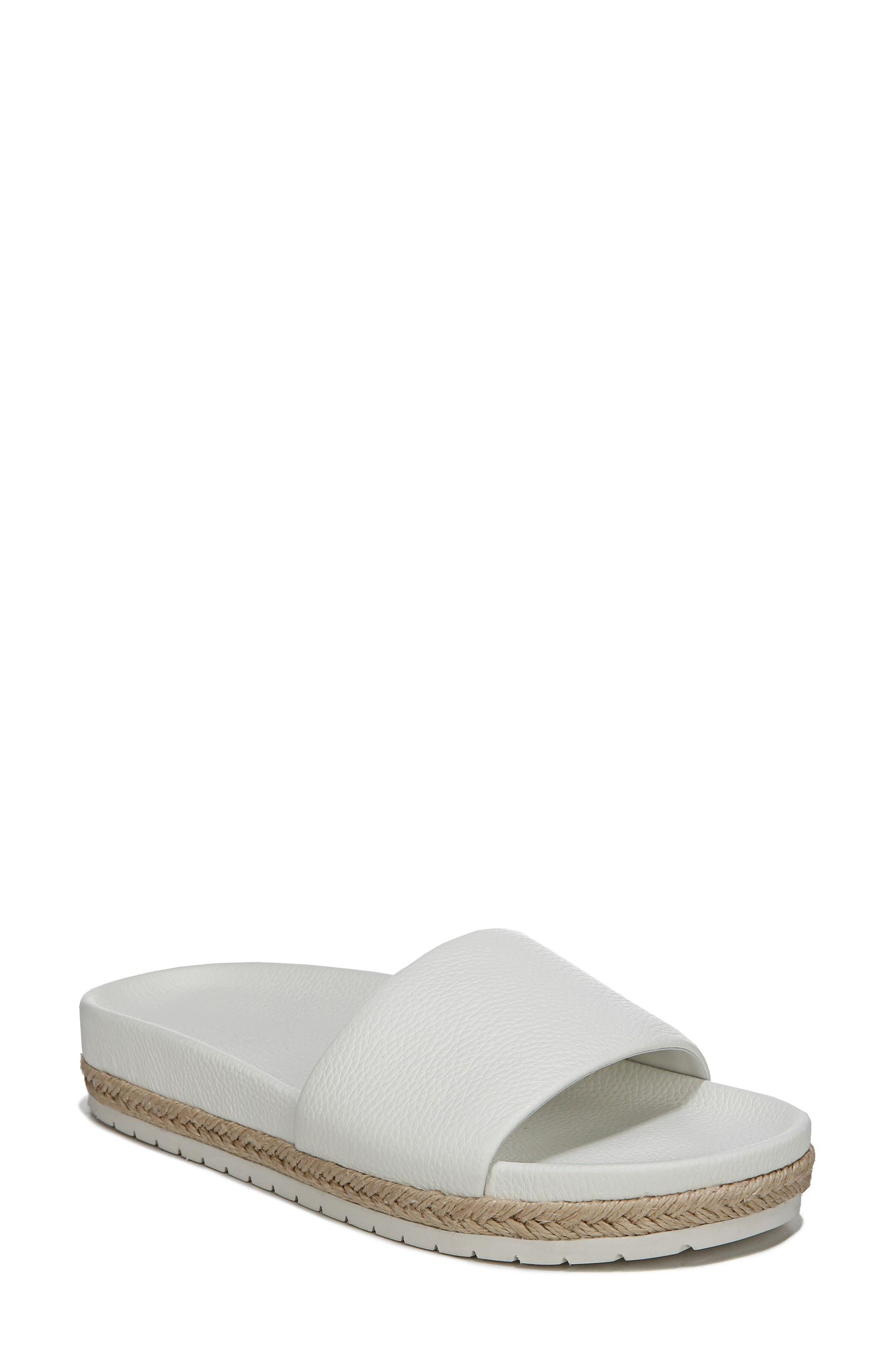 Aurelia Slide Sandal,                         Main,                         color, Panna Cotta