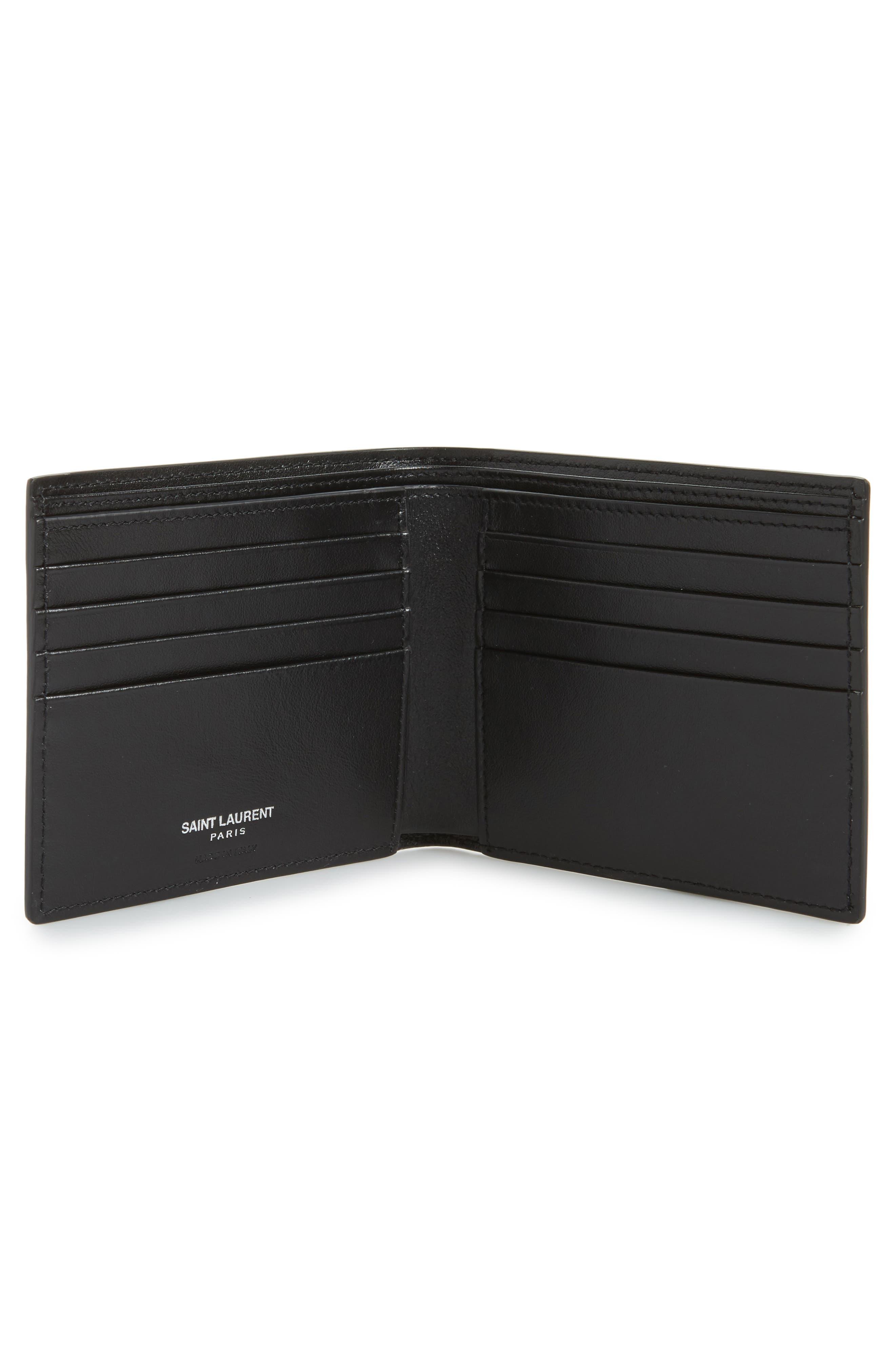 East/West Leather Wallet,                             Alternate thumbnail 2, color,                             Black