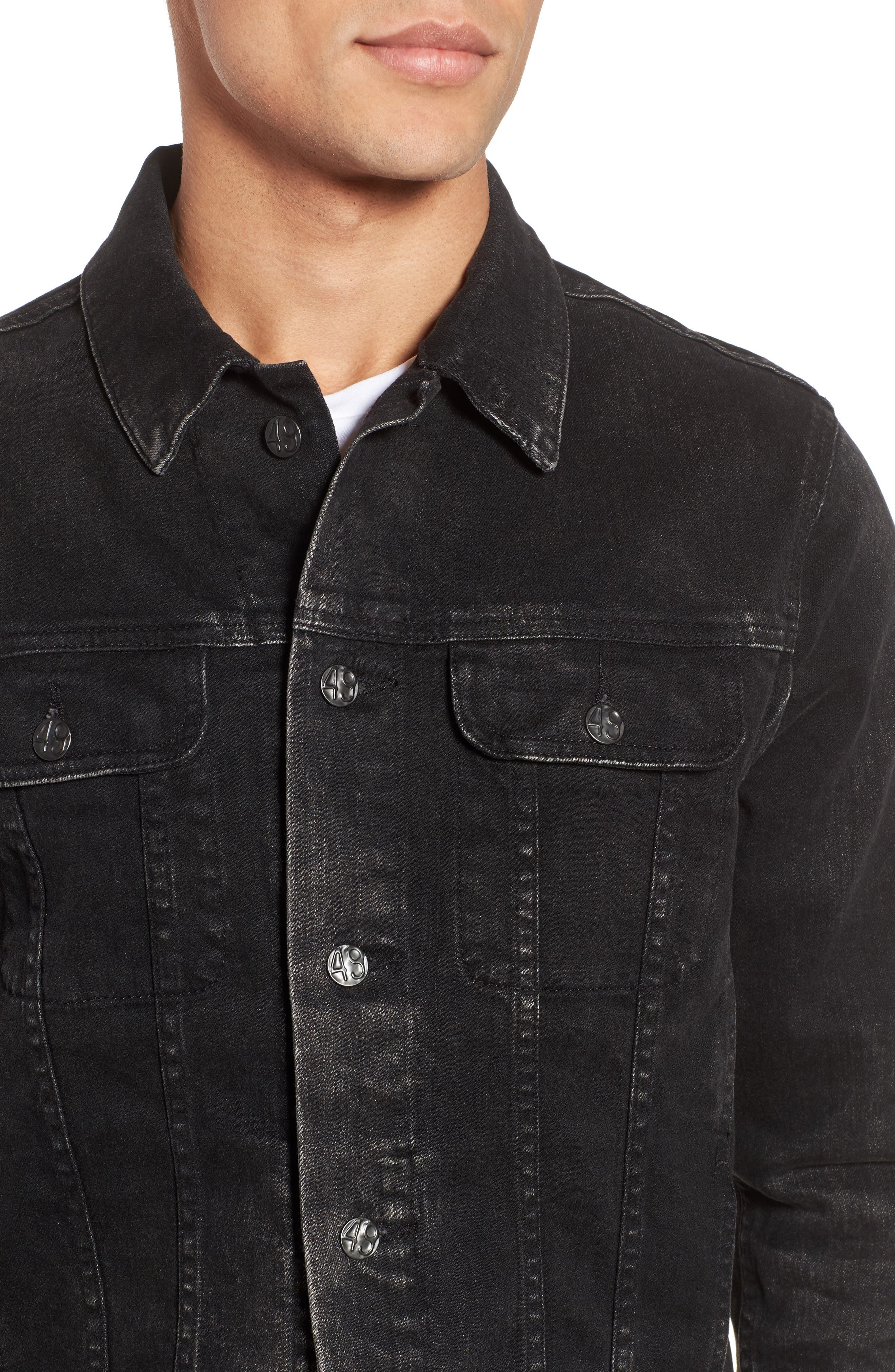 Dart Denim Jacket,                             Alternate thumbnail 4, color,                             9 Years Clouded