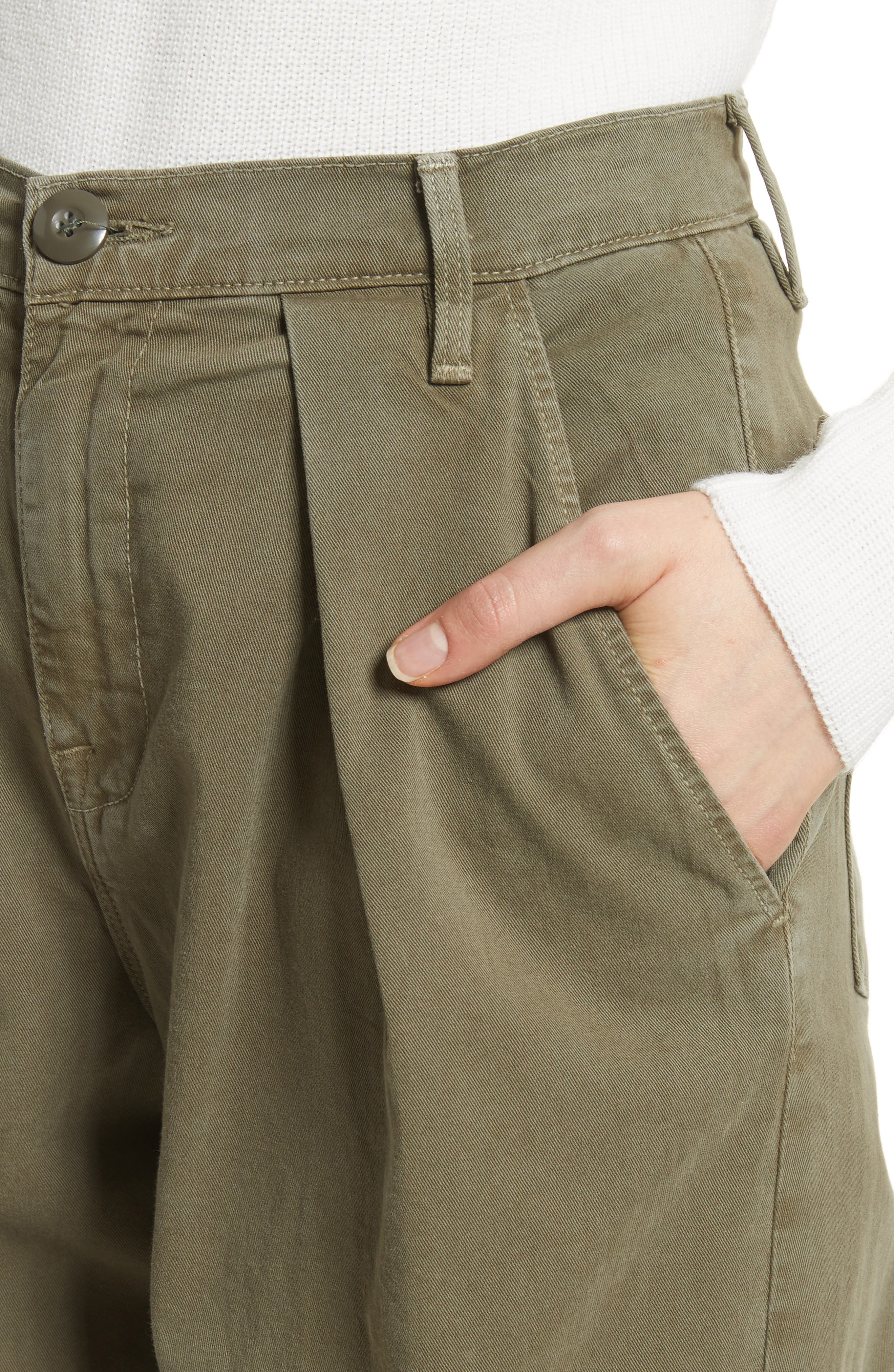 Le Service Wide Leg Pants,                             Alternate thumbnail 4, color,                             Militia Green
