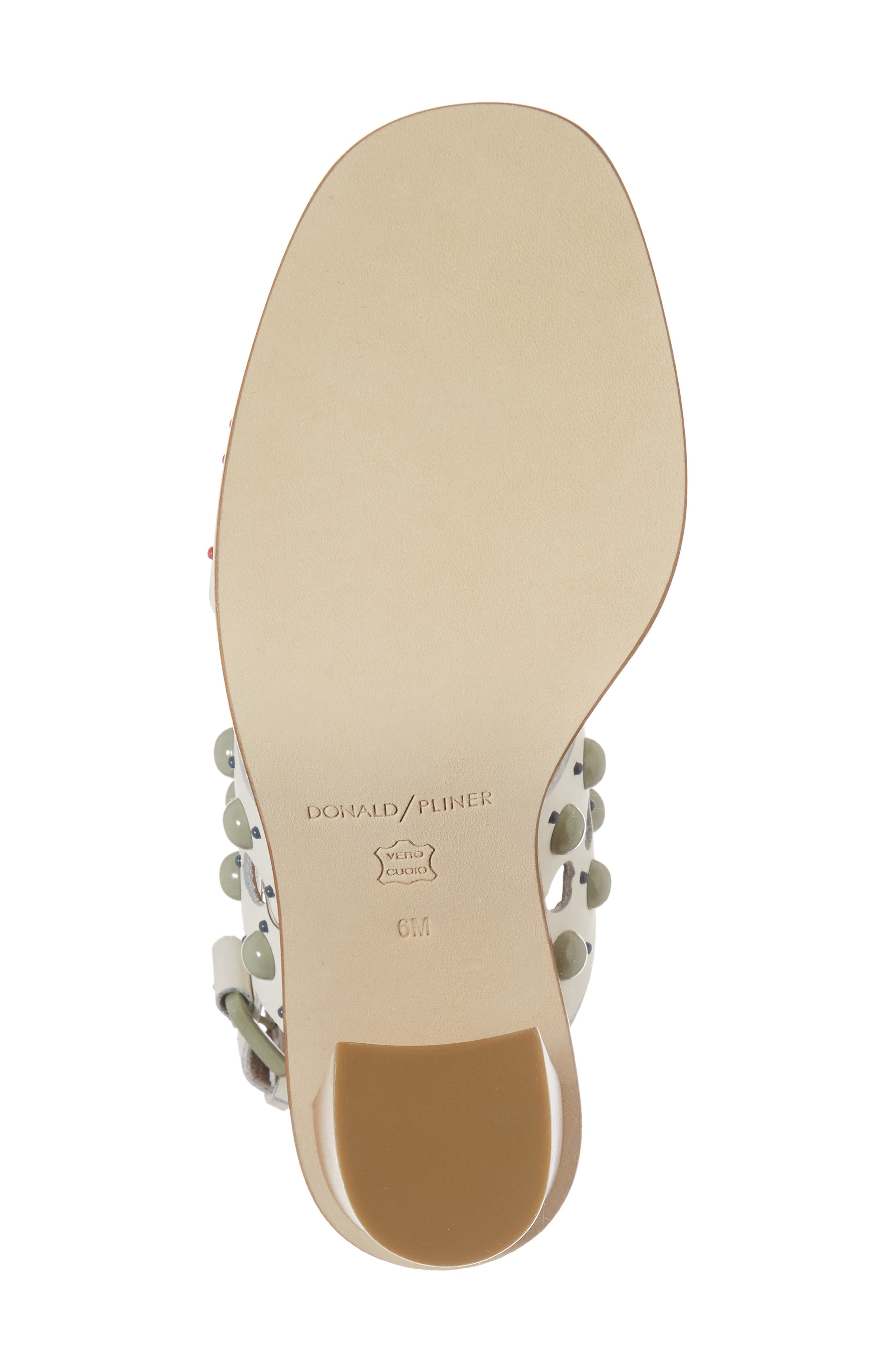 Estee Studded Sandal,                             Alternate thumbnail 6, color,                             Bone Leather