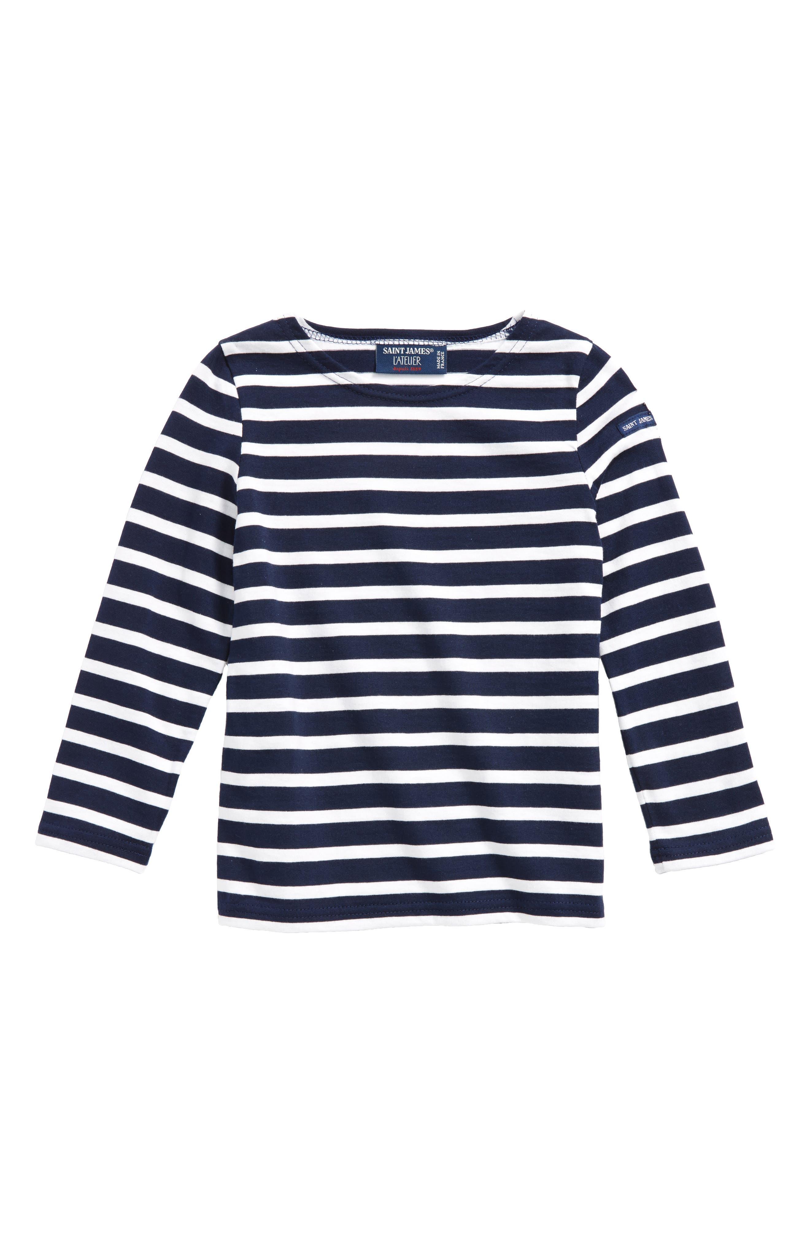 Minquiers Striped Sailor Shirt,                         Main,                         color, Navy/ White