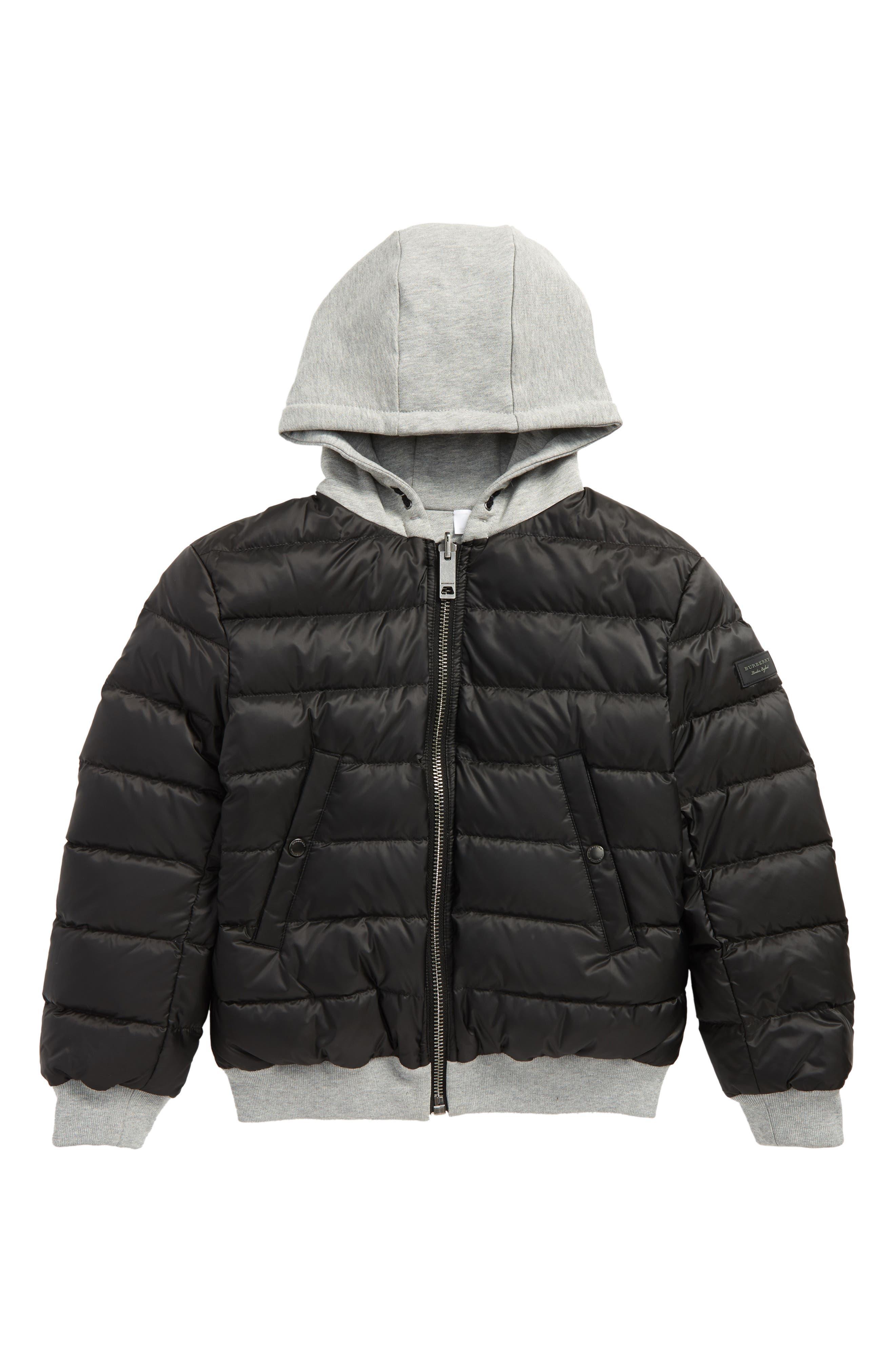 Mini Langleigh Reversible Down Jacket,                         Main,                         color, Black