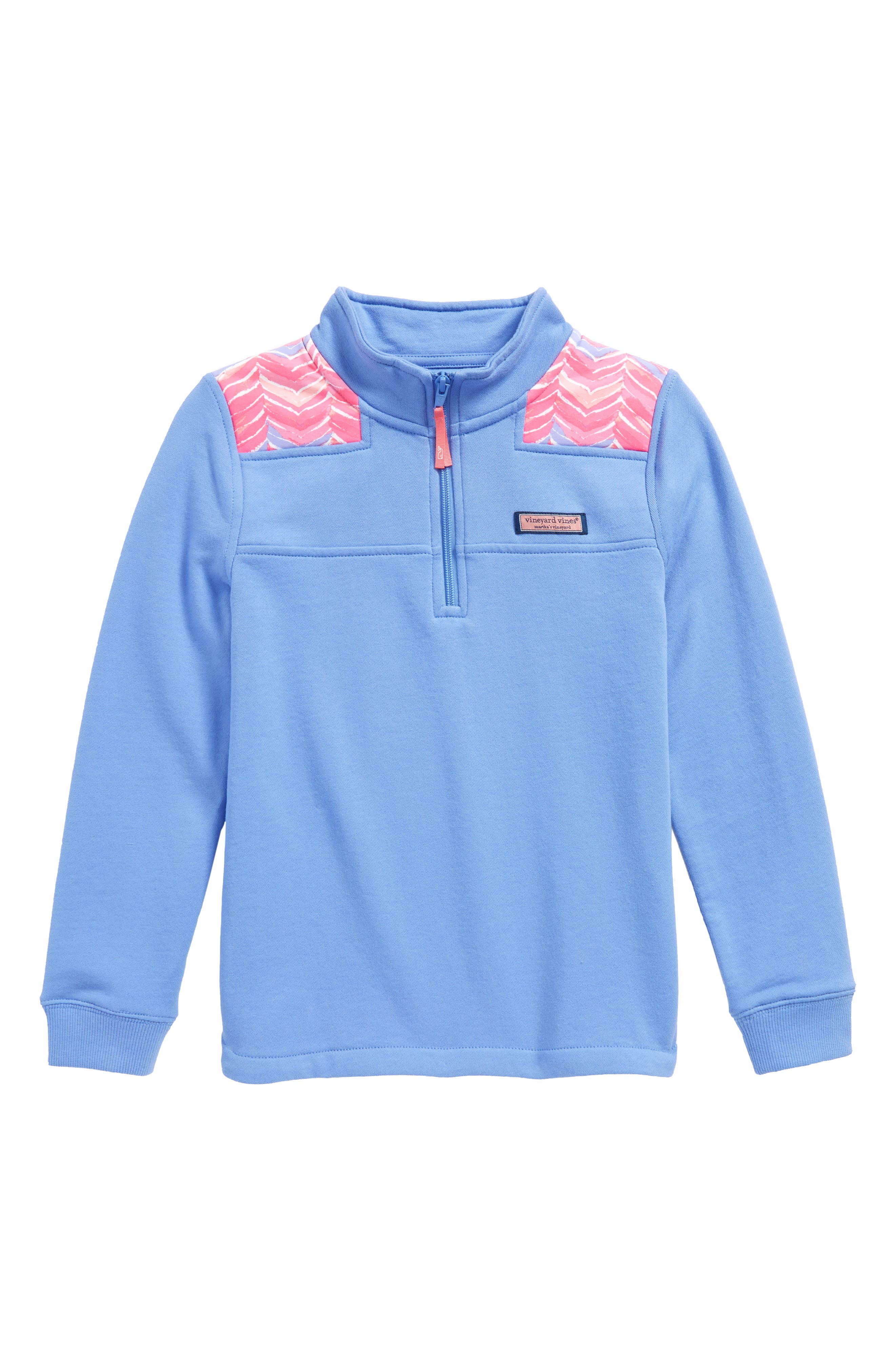 Whale Tail Shep Quarter Zip Pullover,                         Main,                         color, Periwinkle