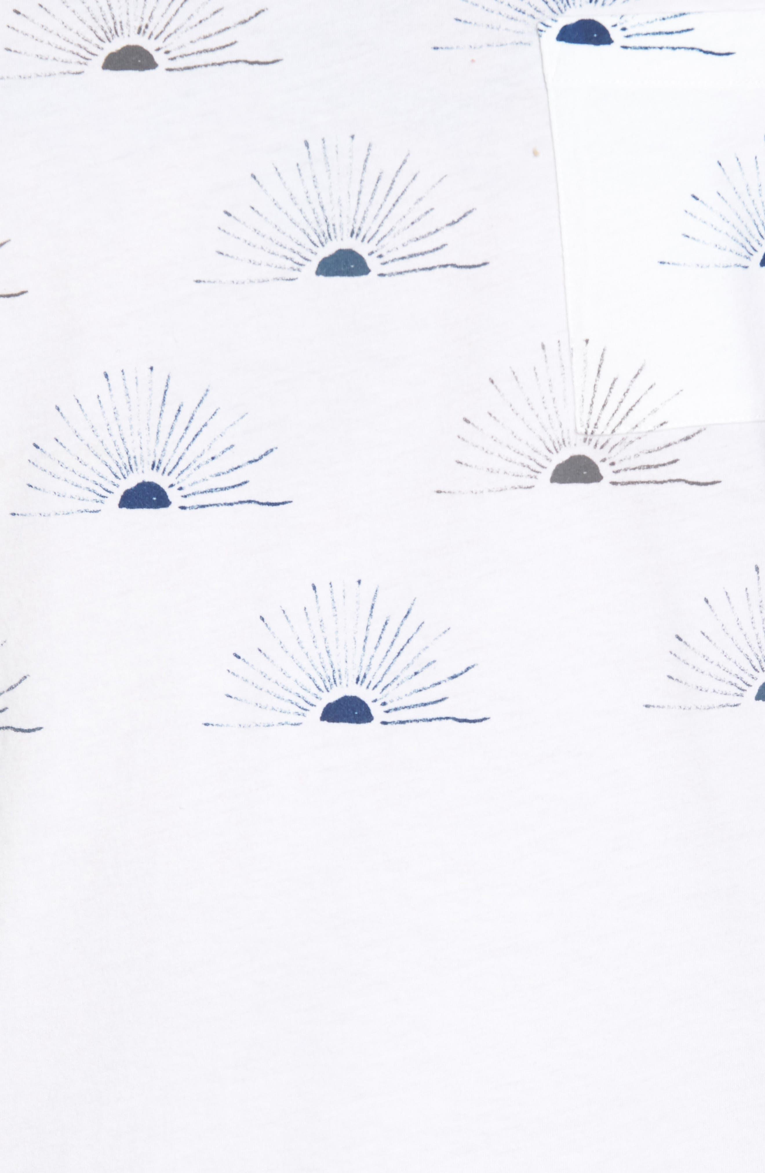 Graphic Pocket T-Shirt,                             Alternate thumbnail 5, color,                             All Over Sunrise Blue