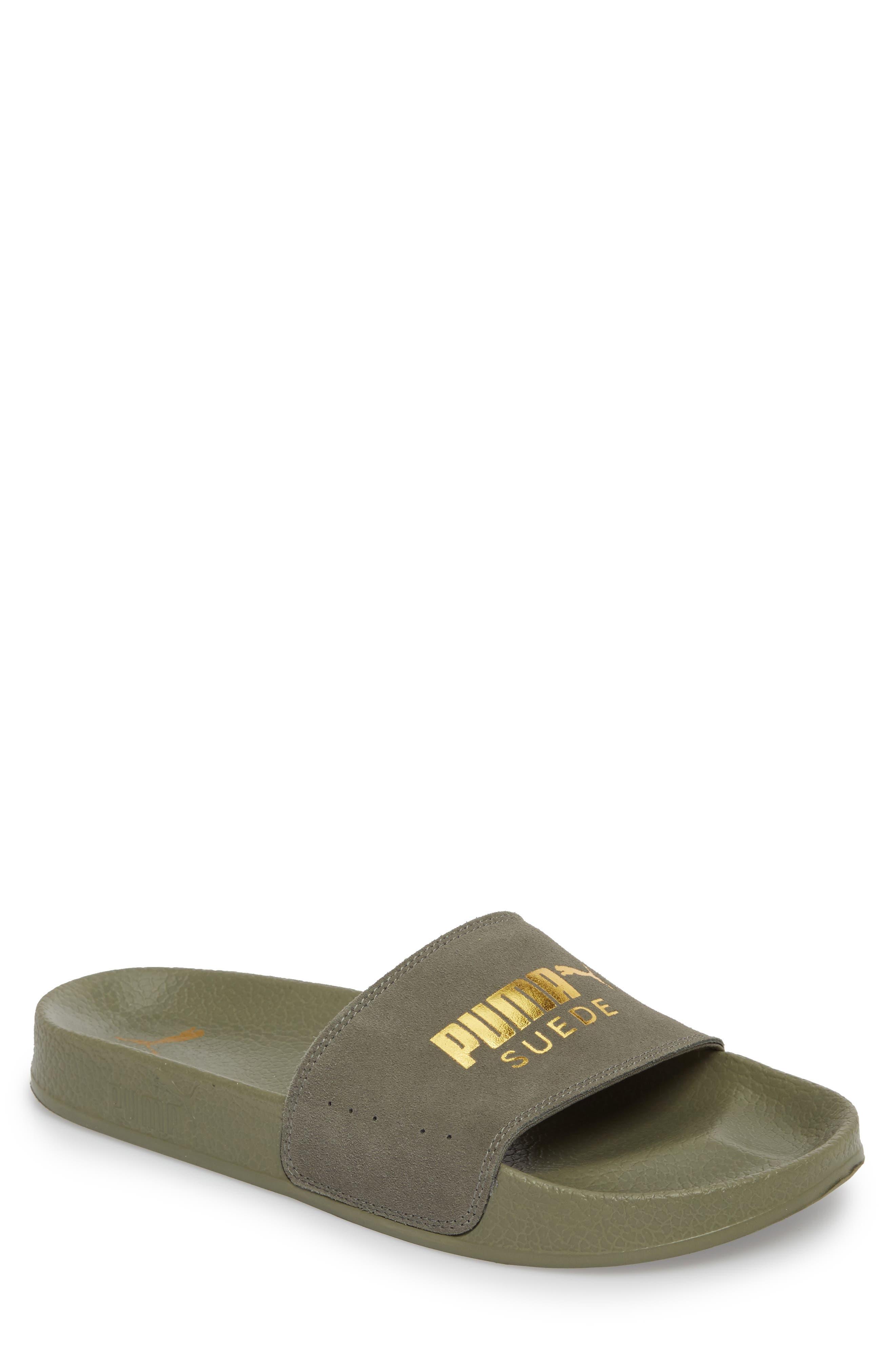 PUMA Leadcat Suede Slide Sandal (Men)
