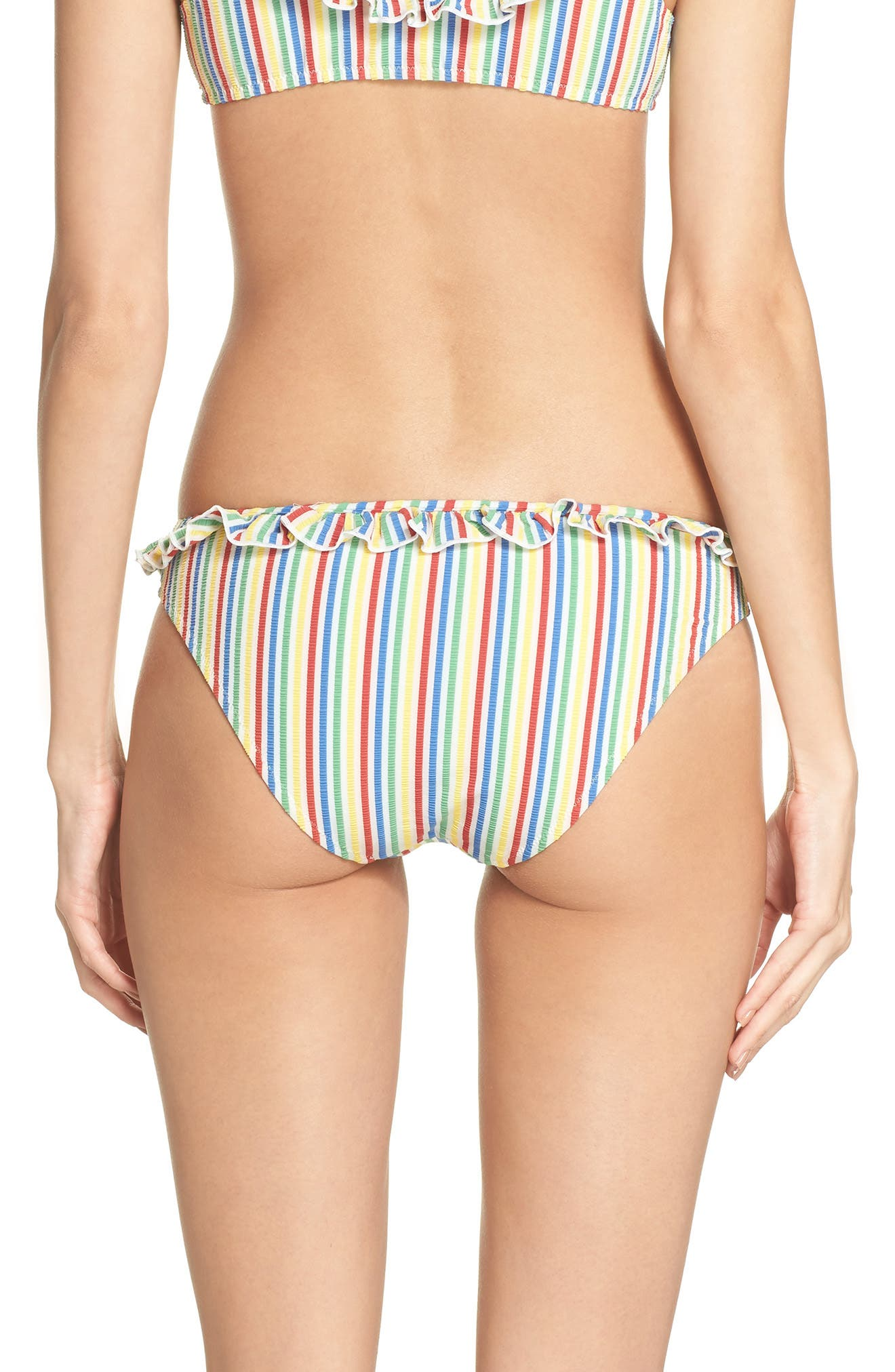 The Milly Bikini Bottoms,                             Alternate thumbnail 2, color,                             Yellow/ Blue/ Pink