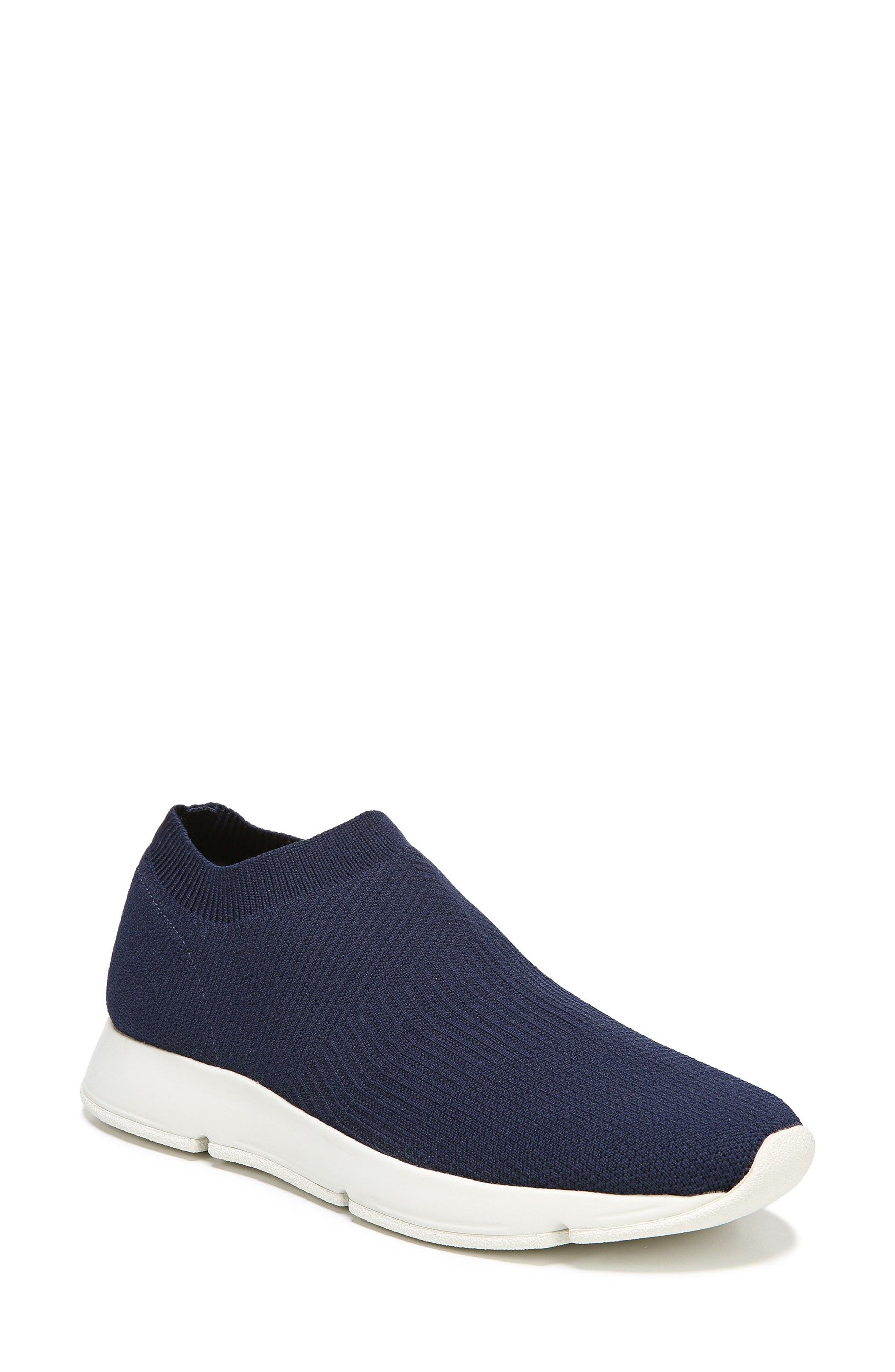 Theroux Slip-On Knit Sneaker,                             Main thumbnail 1, color,                             Navy
