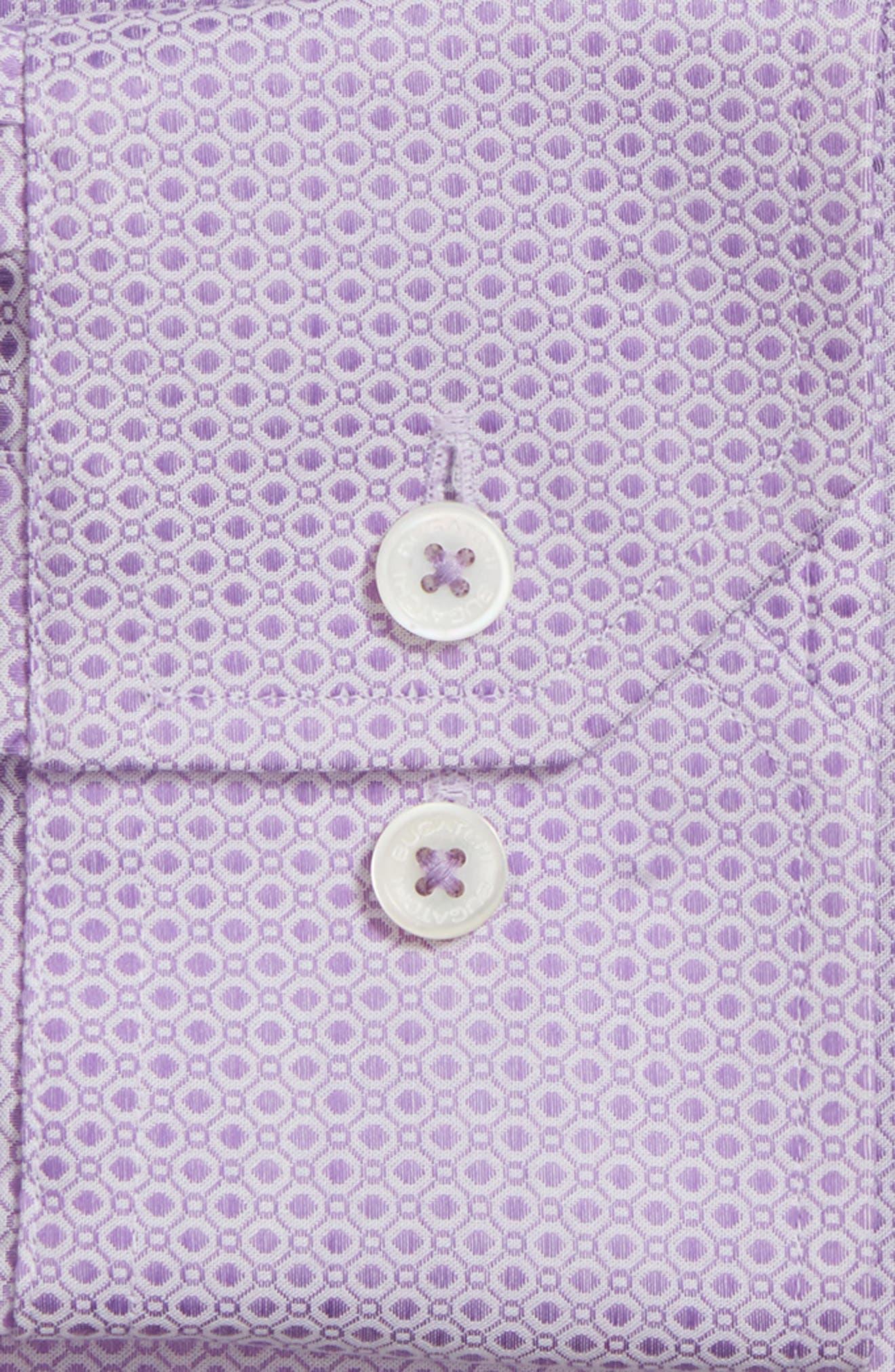 Shaped Fit Geometric Dress Shirt,                             Alternate thumbnail 2, color,                             Lavender