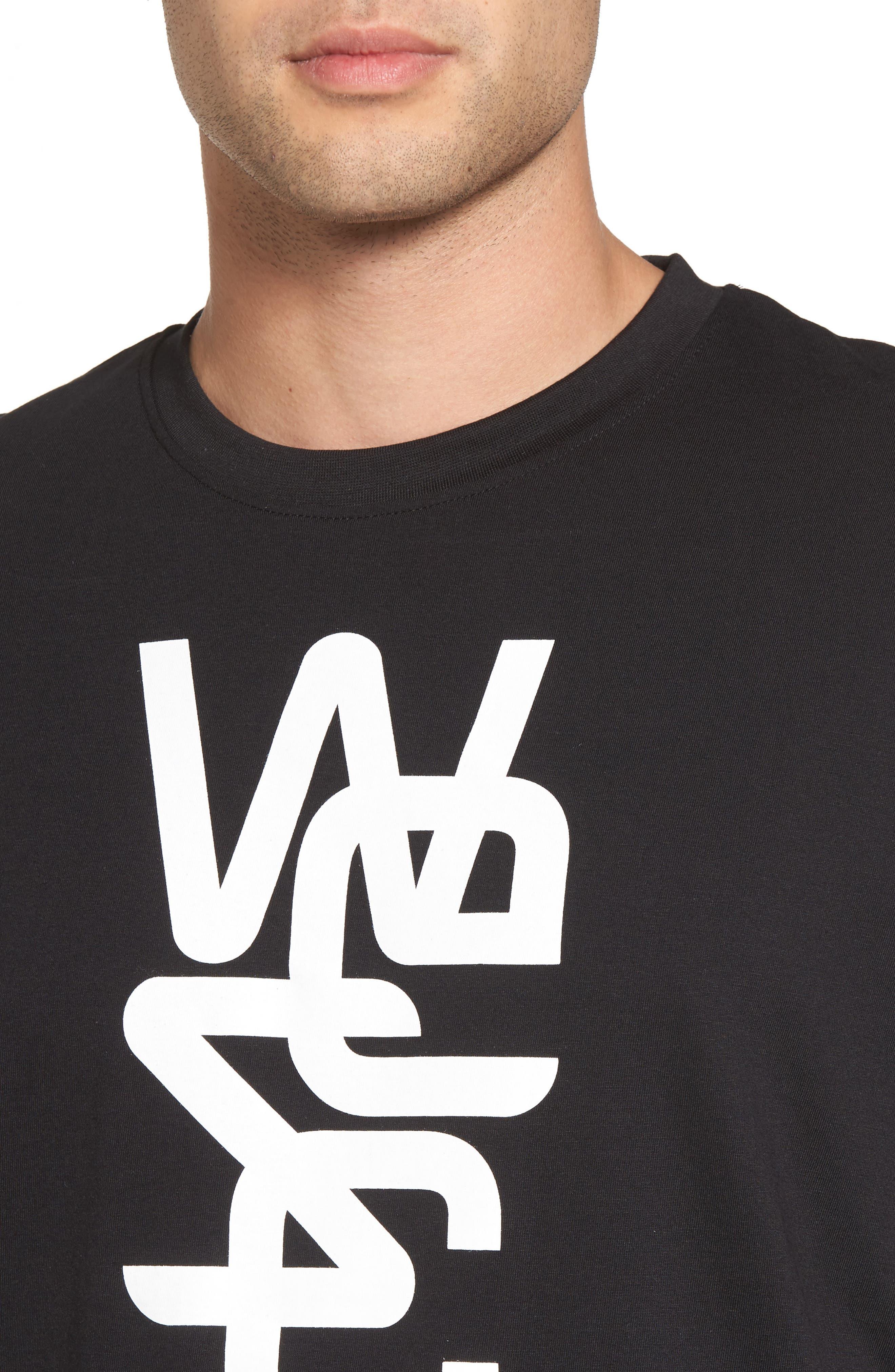 Overlay Logo Graphic T-Shirt,                             Alternate thumbnail 4, color,                             Black