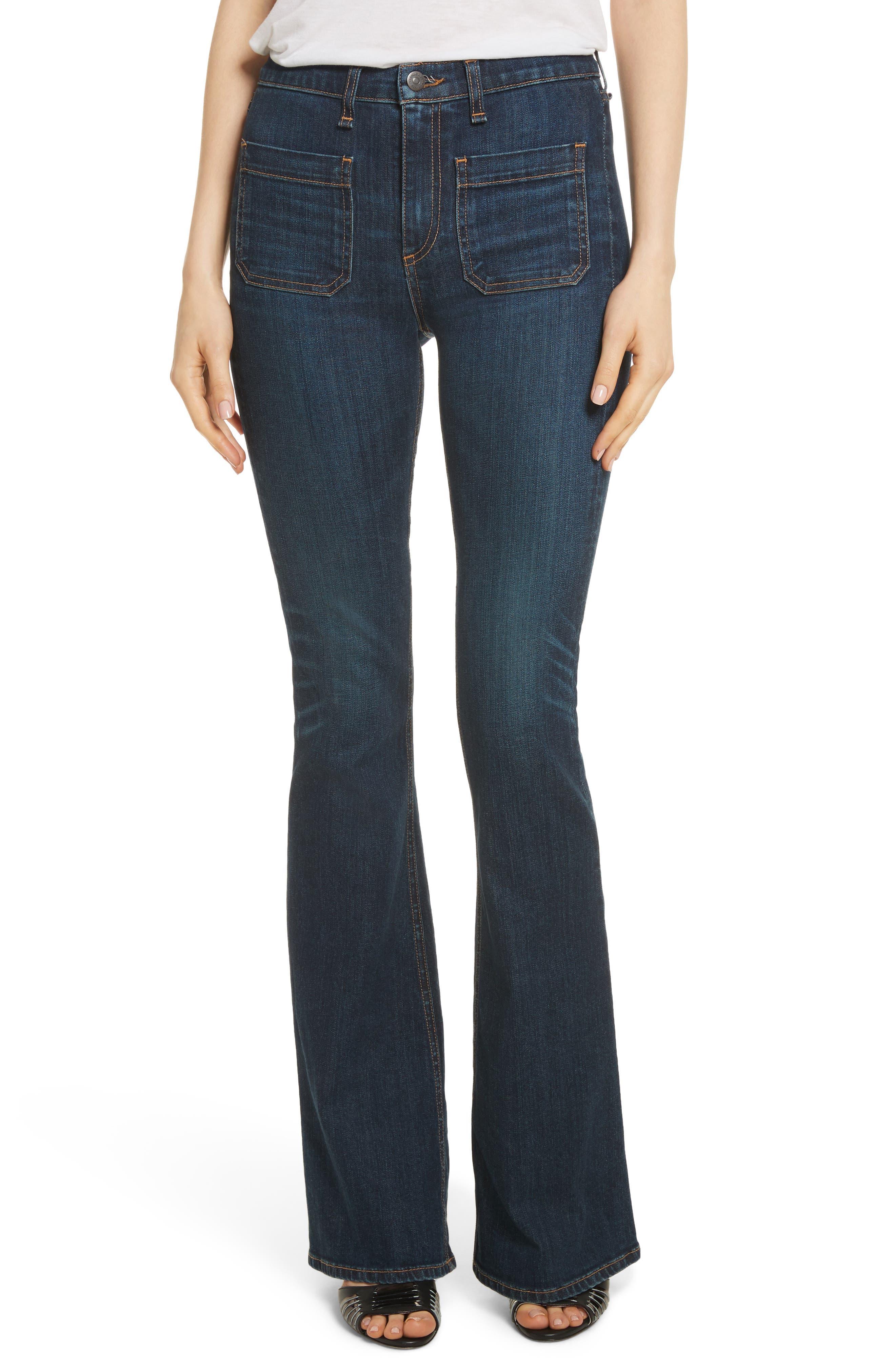 Veronica Beard Florence Flare Jeans (Dark Vintage)