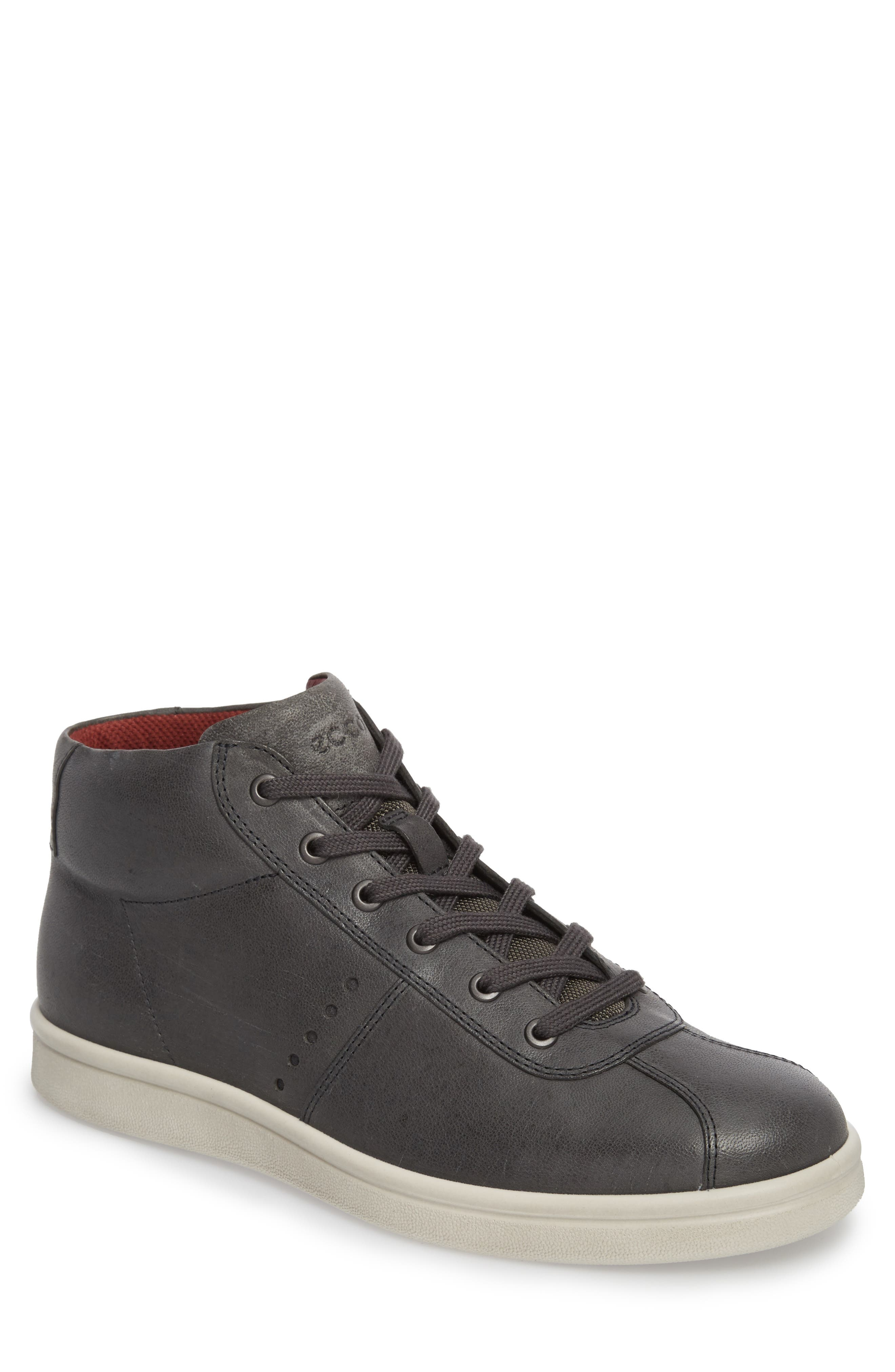 Kallum High Top Sneaker,                         Main,                         color, Moonless Leather