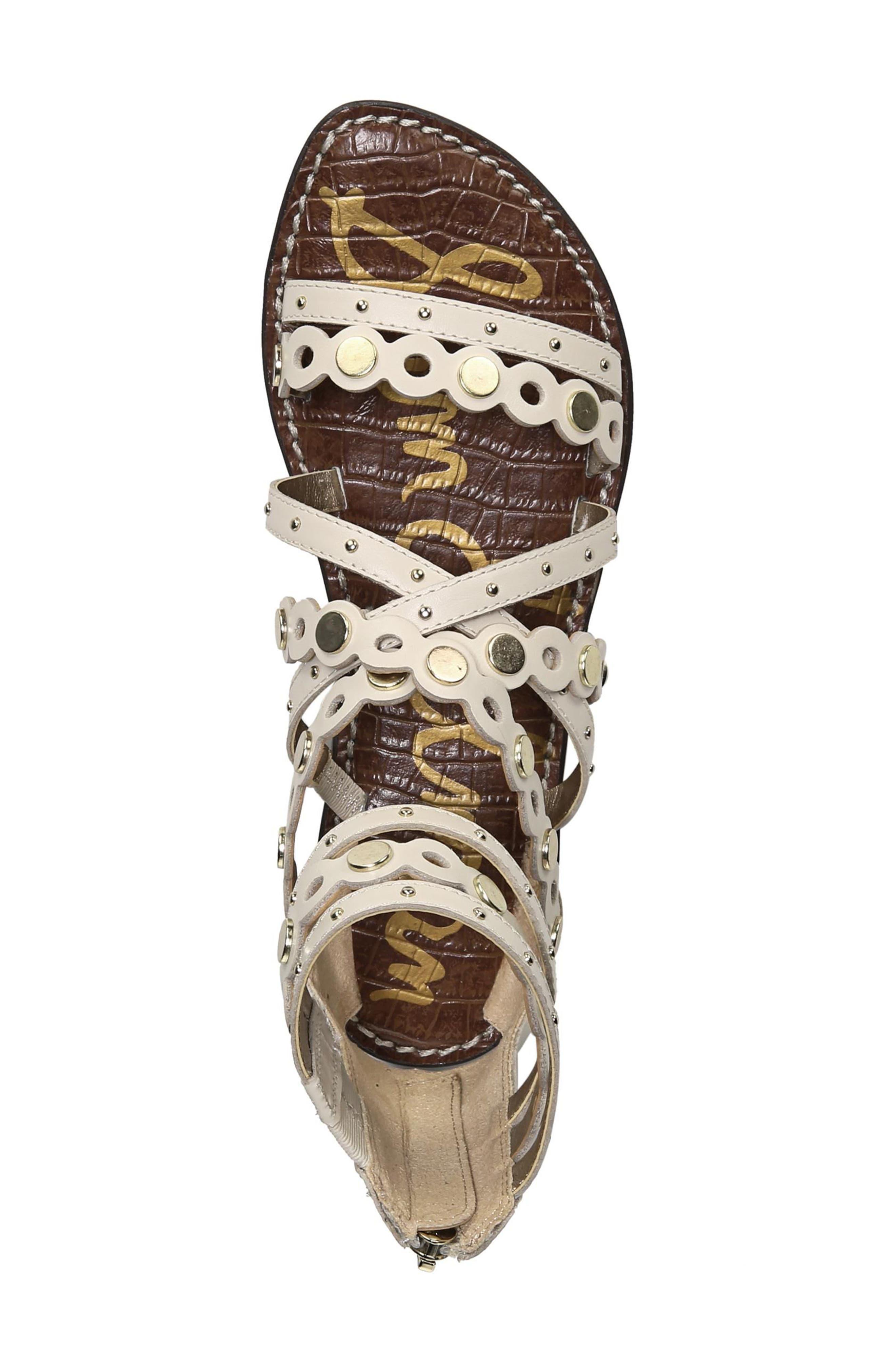 Geren Sandal,                             Alternate thumbnail 6, color,                             Modern Ivory Leather