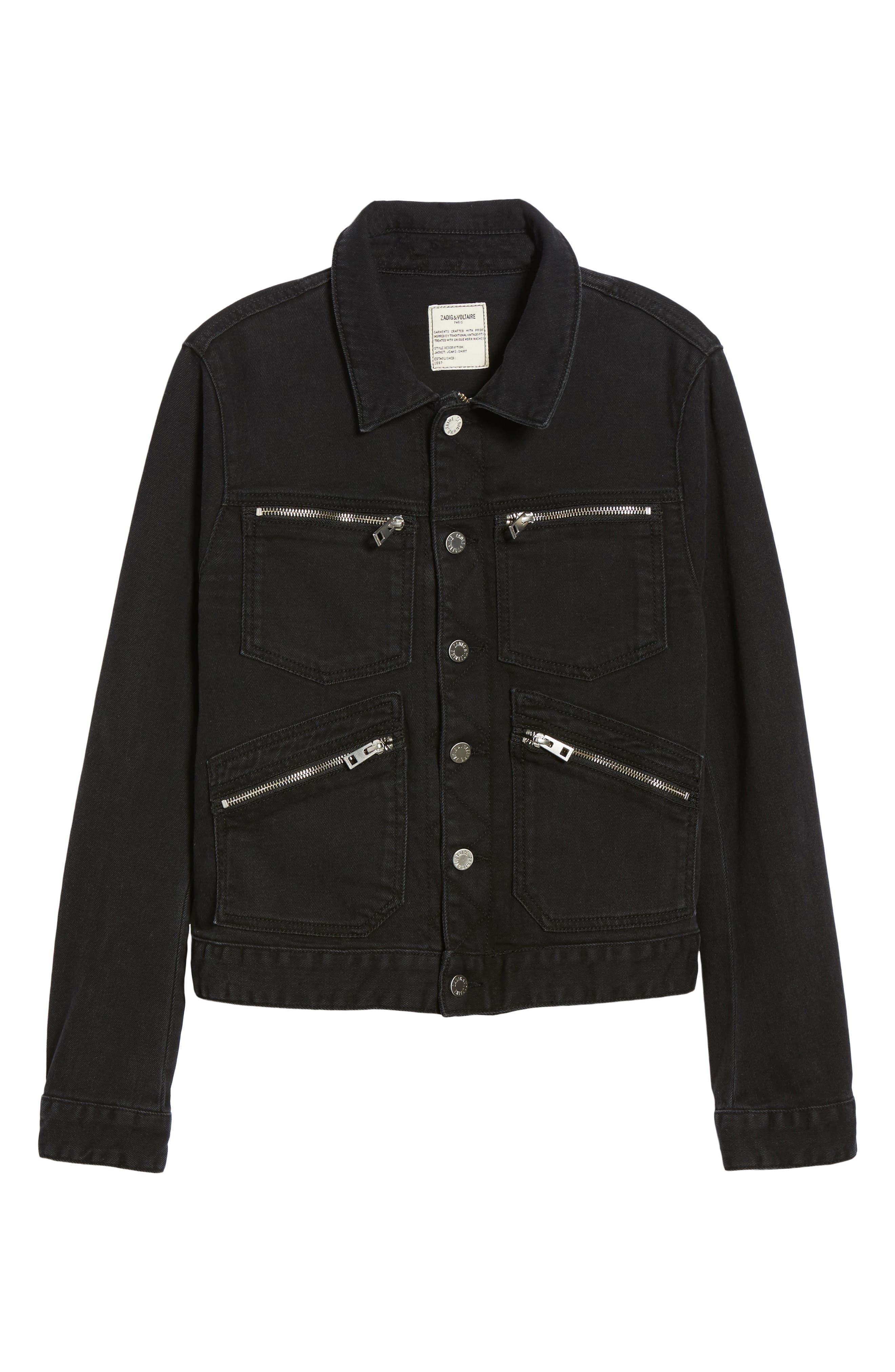 Kioko Cat Jacket,                             Alternate thumbnail 6, color,                             Black