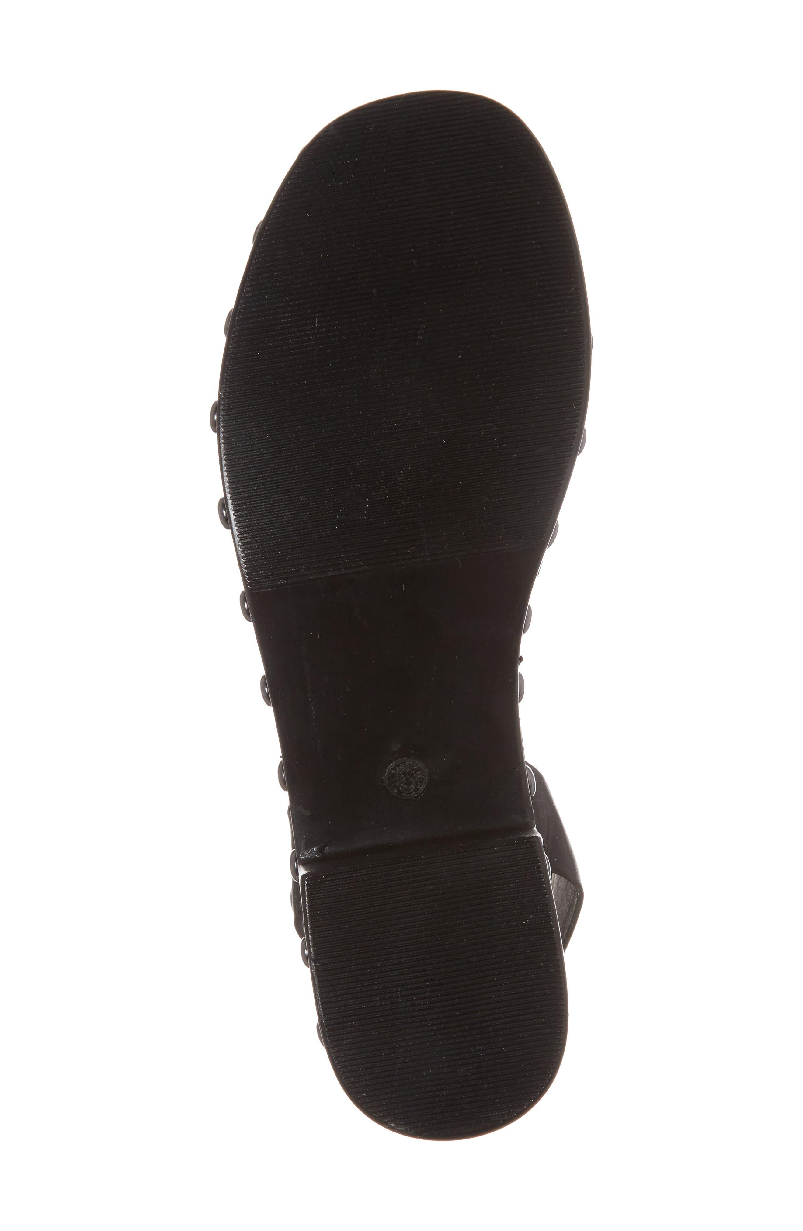 Spare Moments Sandal,                             Alternate thumbnail 6, color,                             Black Leather
