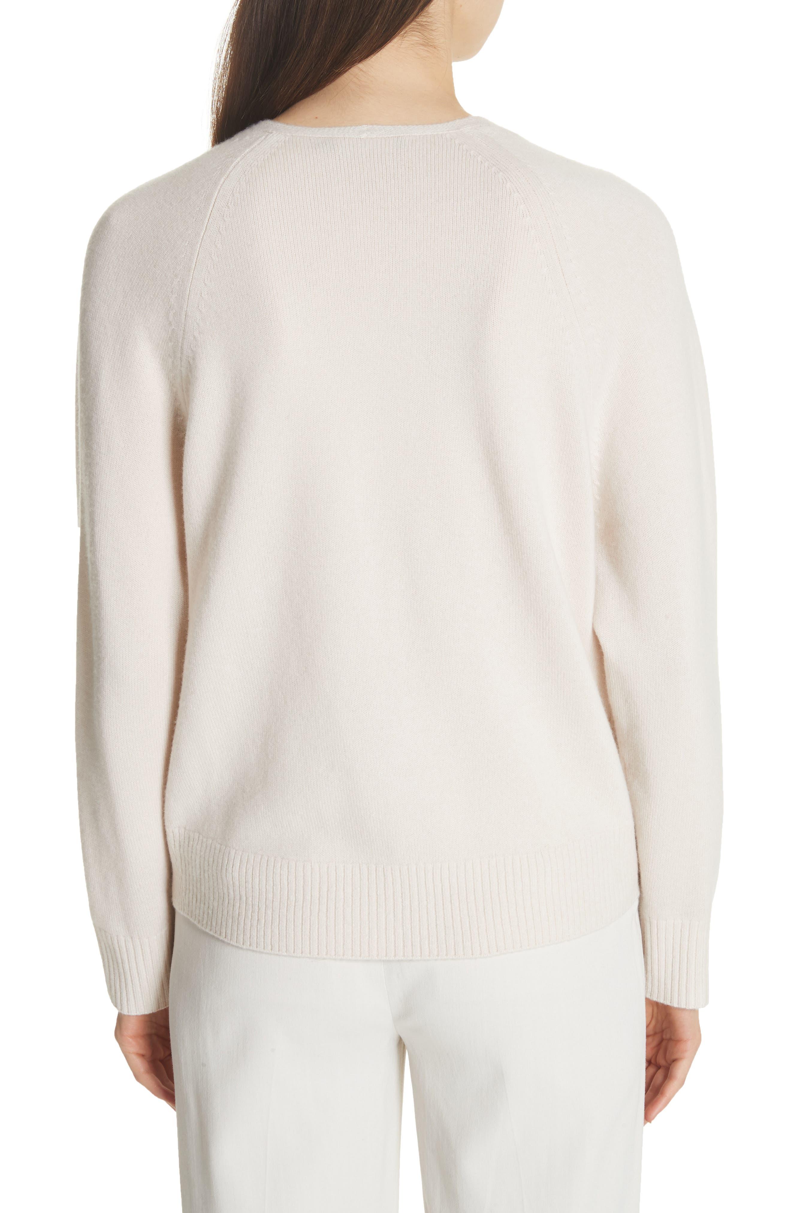 Cashmere Raglan Sleeve Sweater,                             Alternate thumbnail 2, color,                             Sandstone