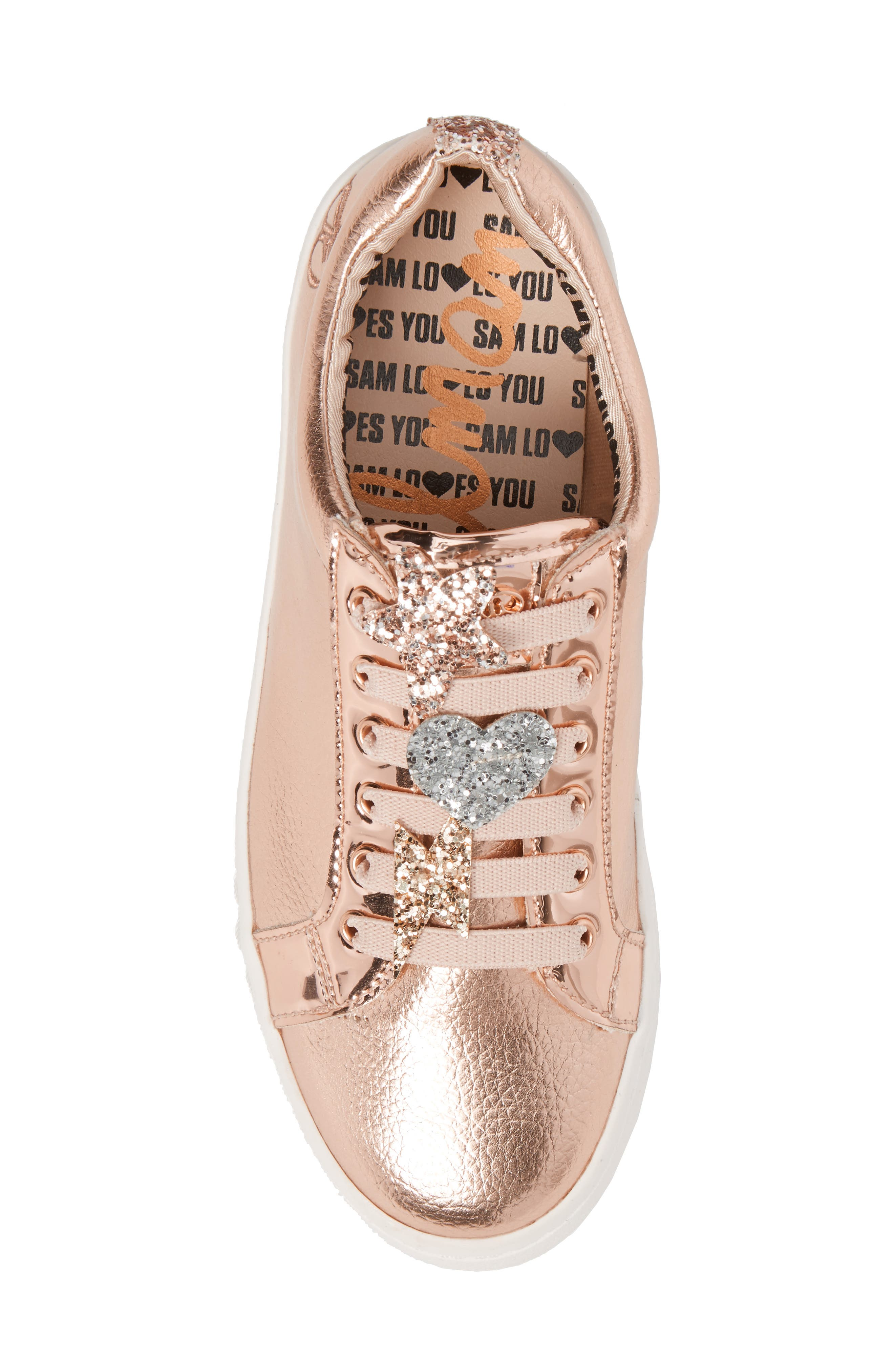 Blane Sammie Slip-On Sneaker,                             Alternate thumbnail 5, color,                             Rose Gold Faux Leather