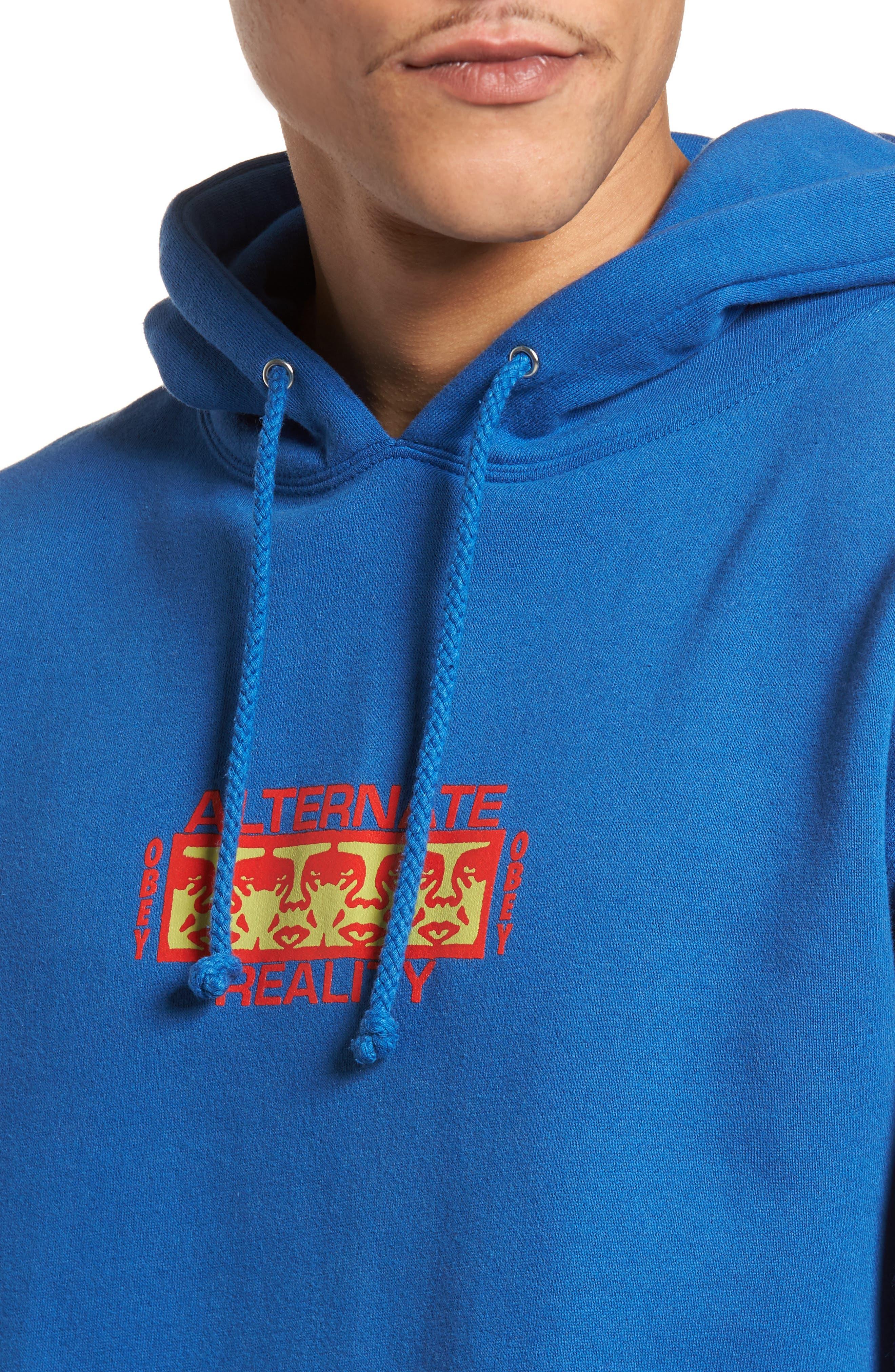 Alternate Reality Hoodie Sweatshirt,                             Alternate thumbnail 4, color,                             Royal Blue