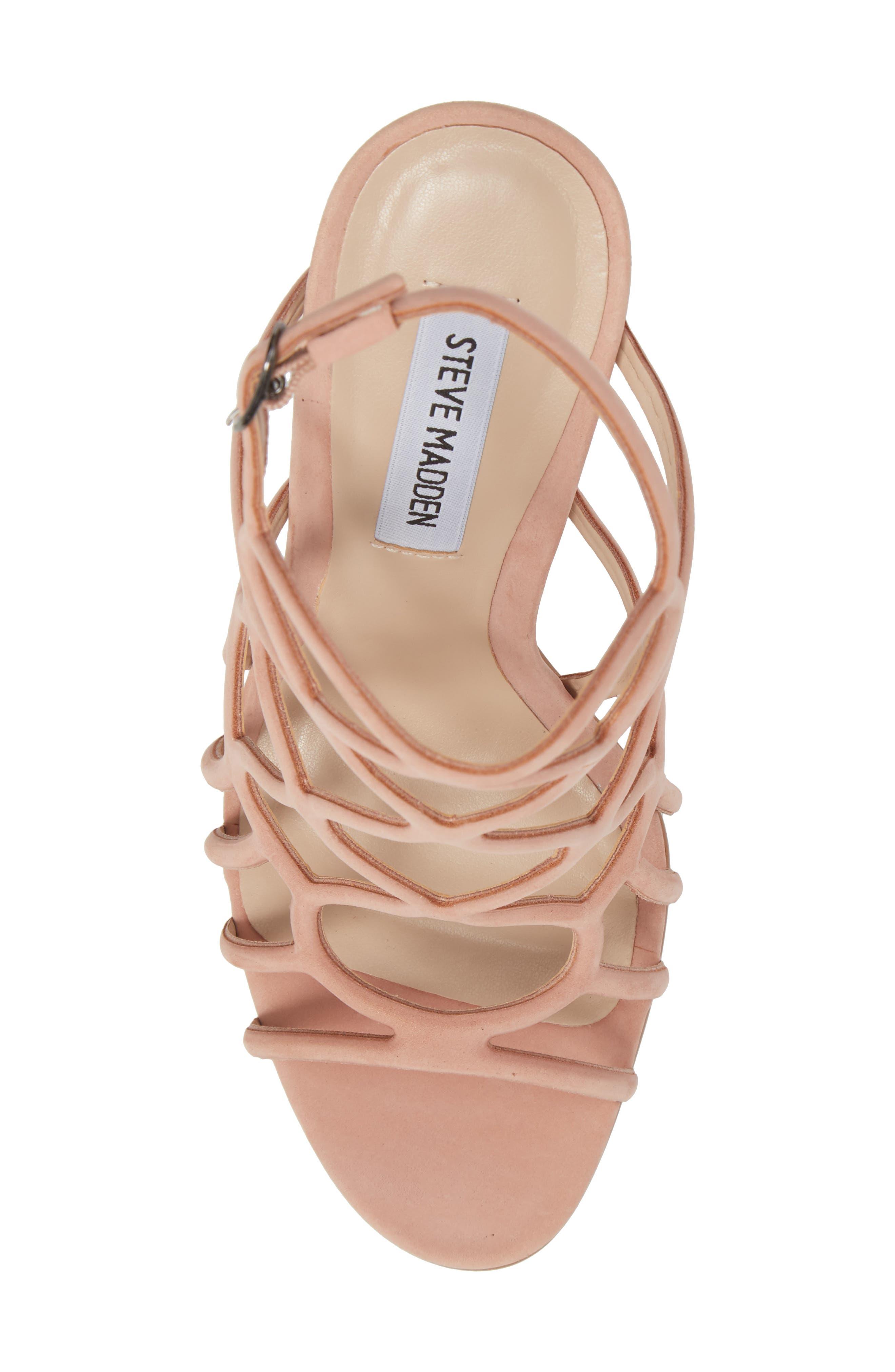 Teagan Sandal,                             Alternate thumbnail 5, color,                             Blush Nubuck Leather