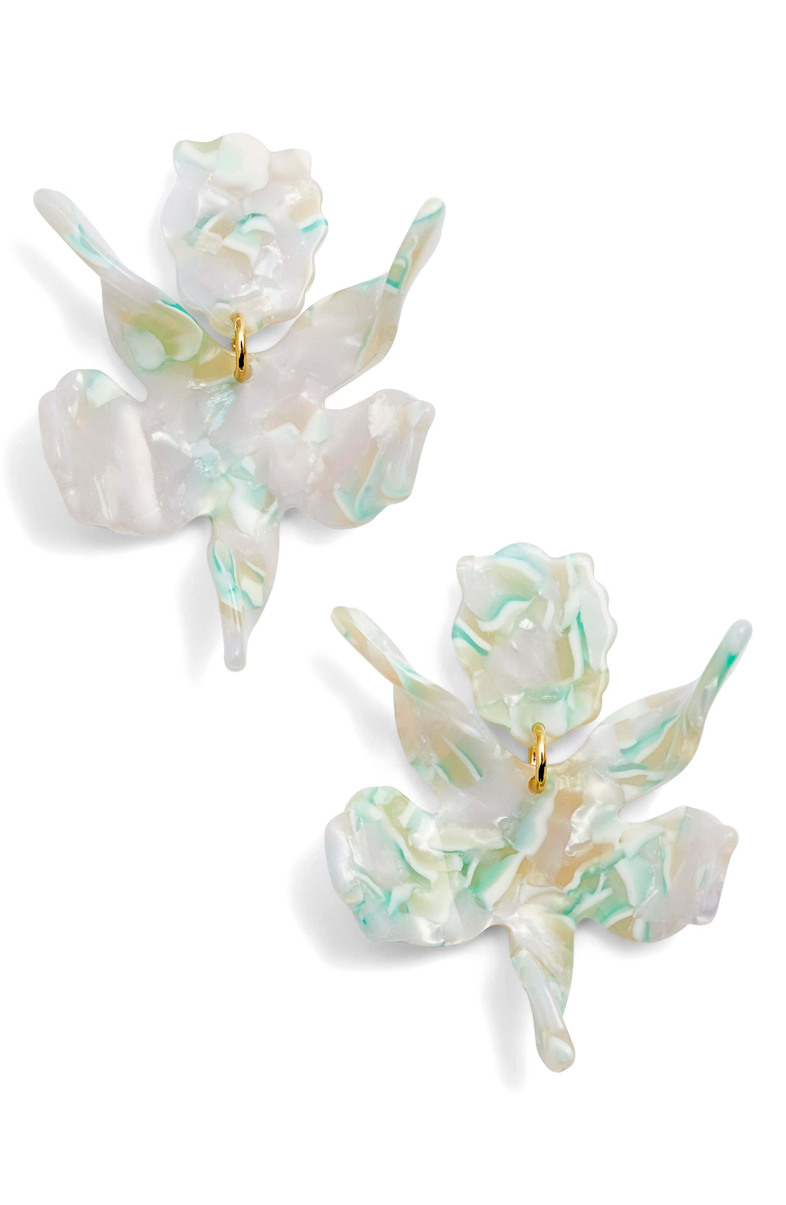 Lele Sadoughi Small Paper Lily Drop Earrings