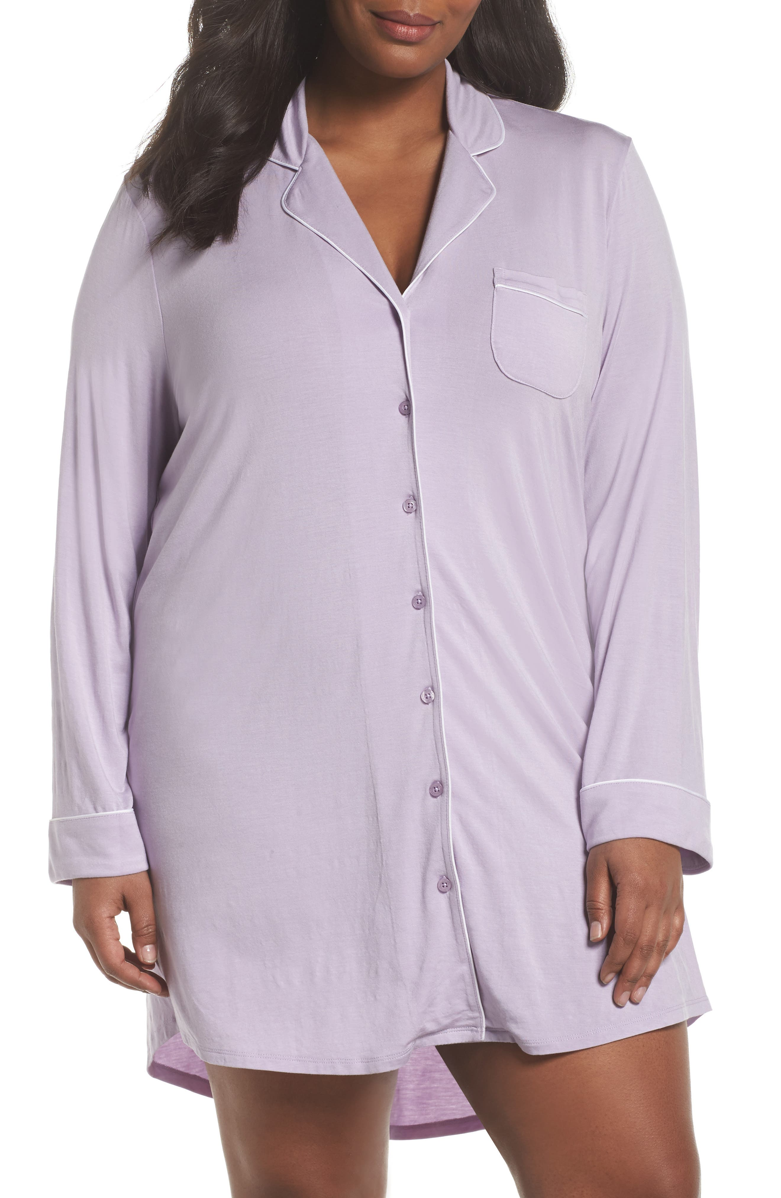 'Moonlight' Nightshirt,                         Main,                         color, Purple Petal