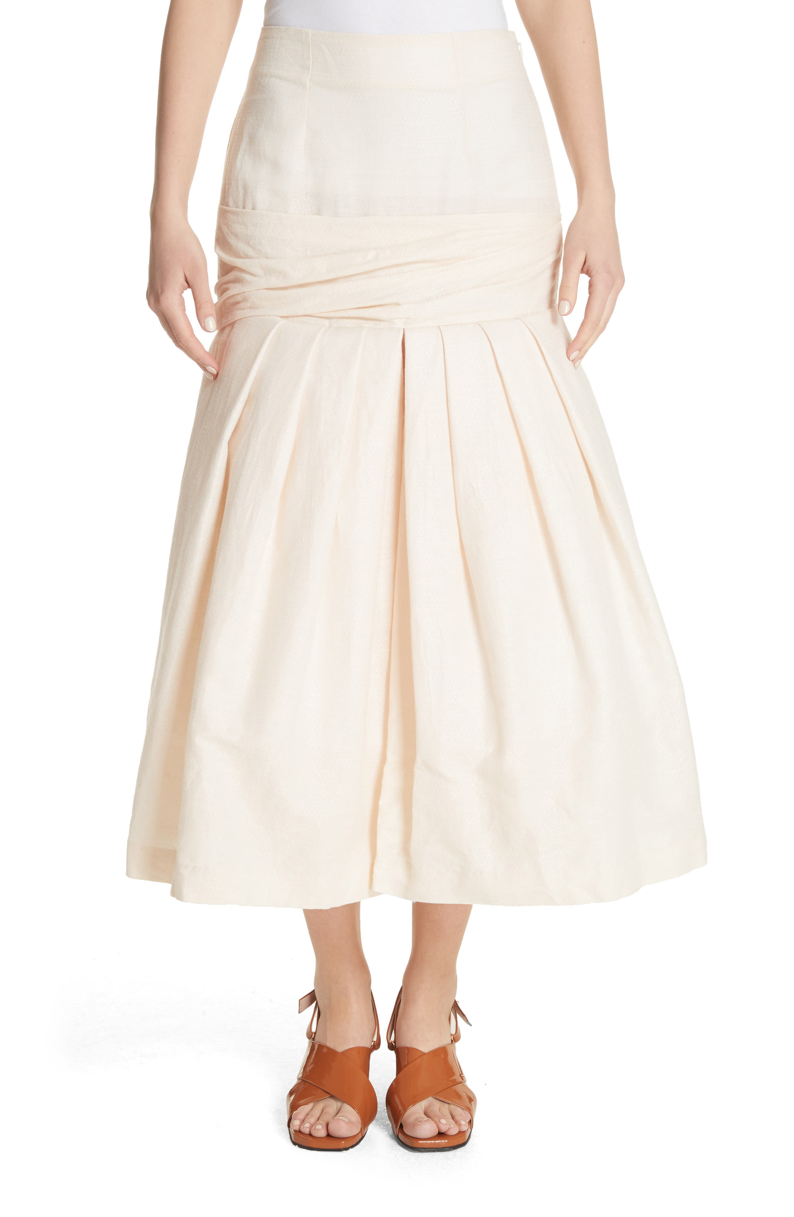 La Jupe Mamao Skirt,                         Main,                         color, Beige