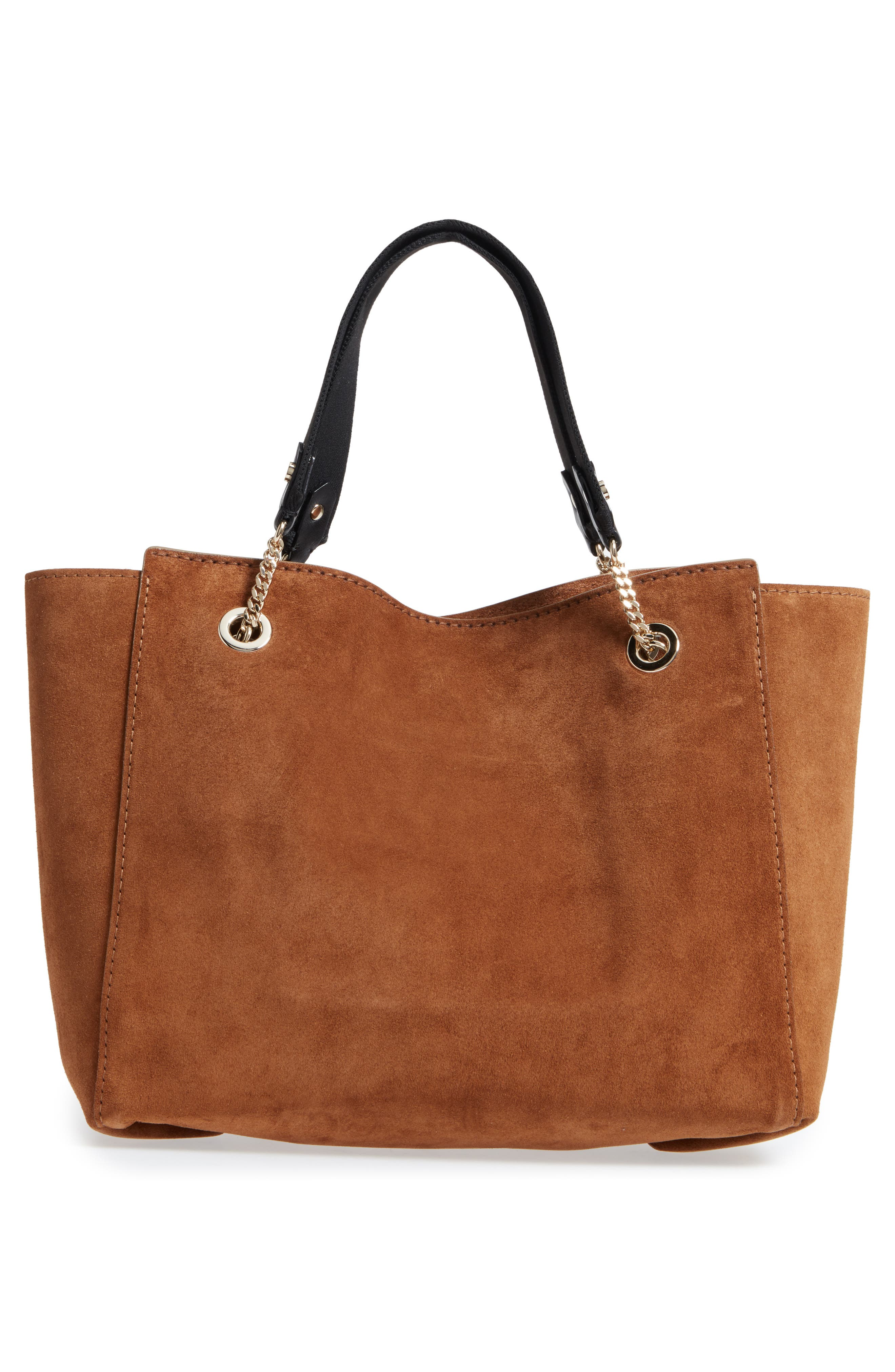 Flo Suede Tote,                             Alternate thumbnail 3, color,                             Cacao