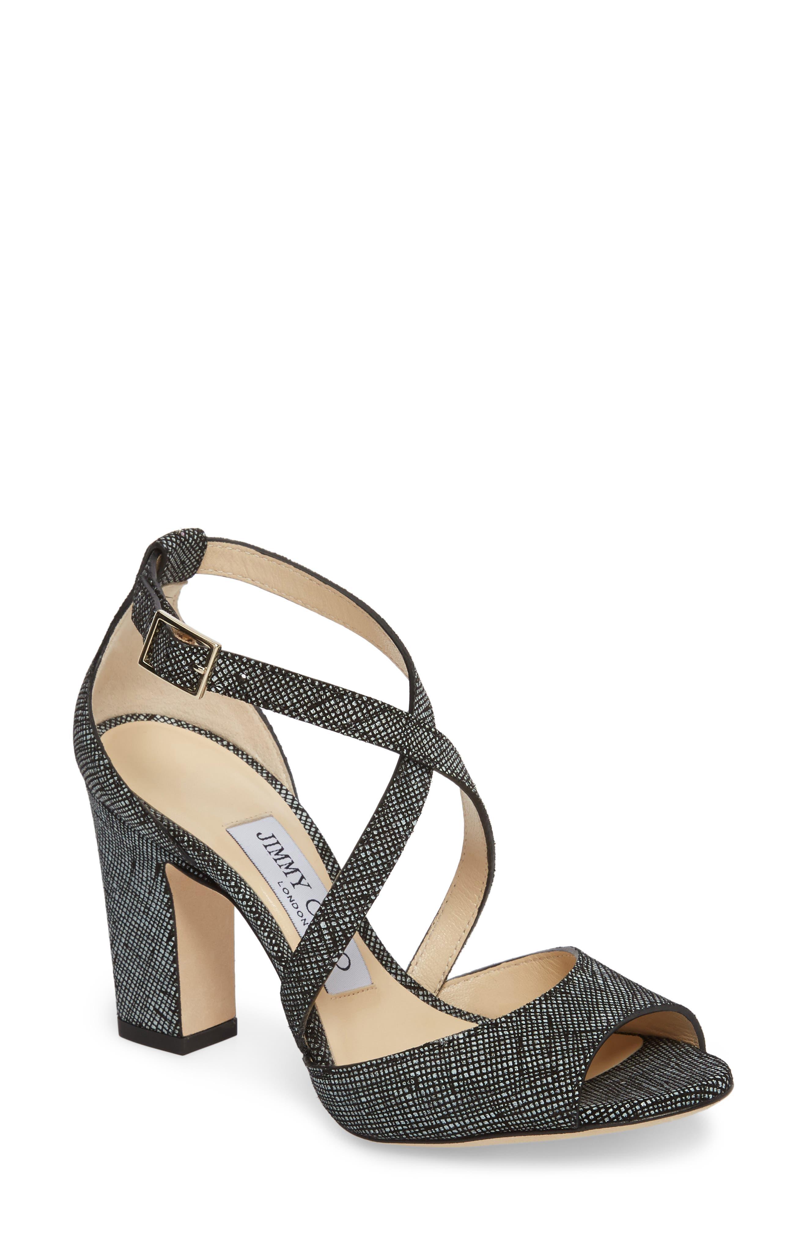 Alternate Image 1 Selected - Jimmy Choo Carrie Cross Strap Sandal (Women)