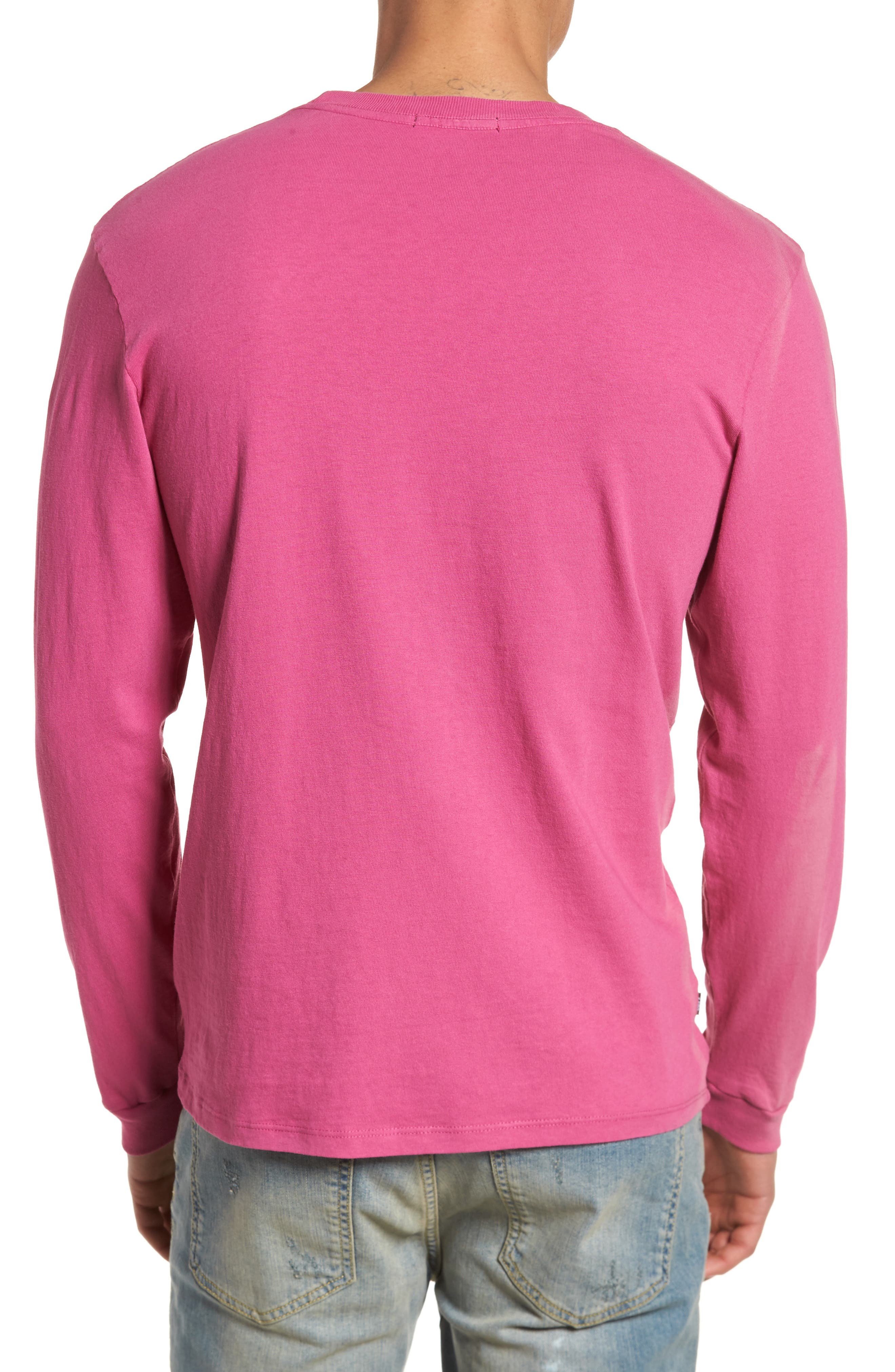 Typewriter Pigment Dyed T-Shirt,                             Alternate thumbnail 2, color,                             Dusty Magenta