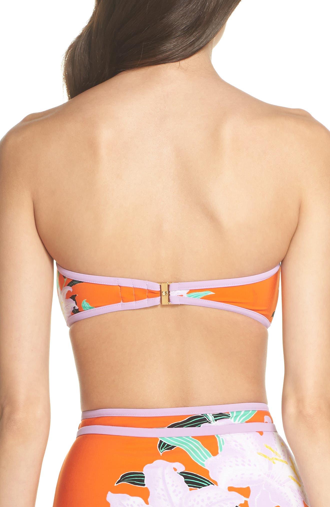 Print Bandeau Bikini Top,                             Alternate thumbnail 2, color,                             Argos Sm All Clem/ Lavender