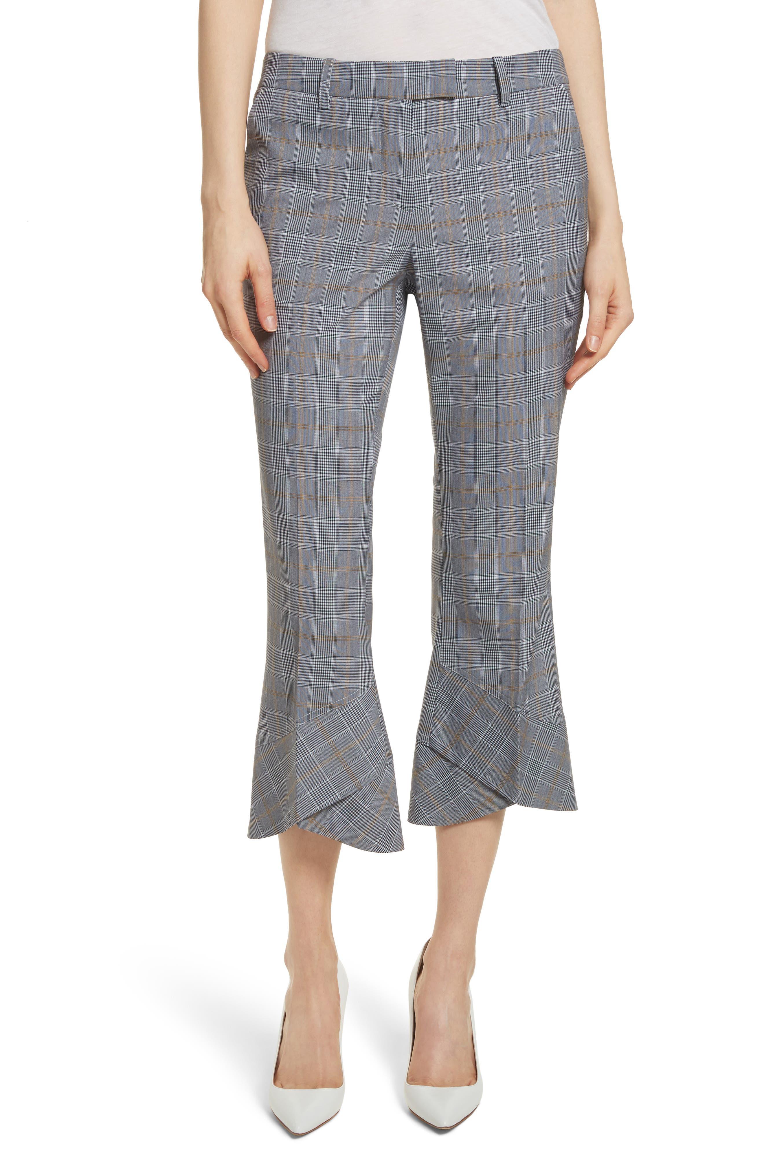 Robert Rodriguez Plaid Layered Hem Crop Trousers