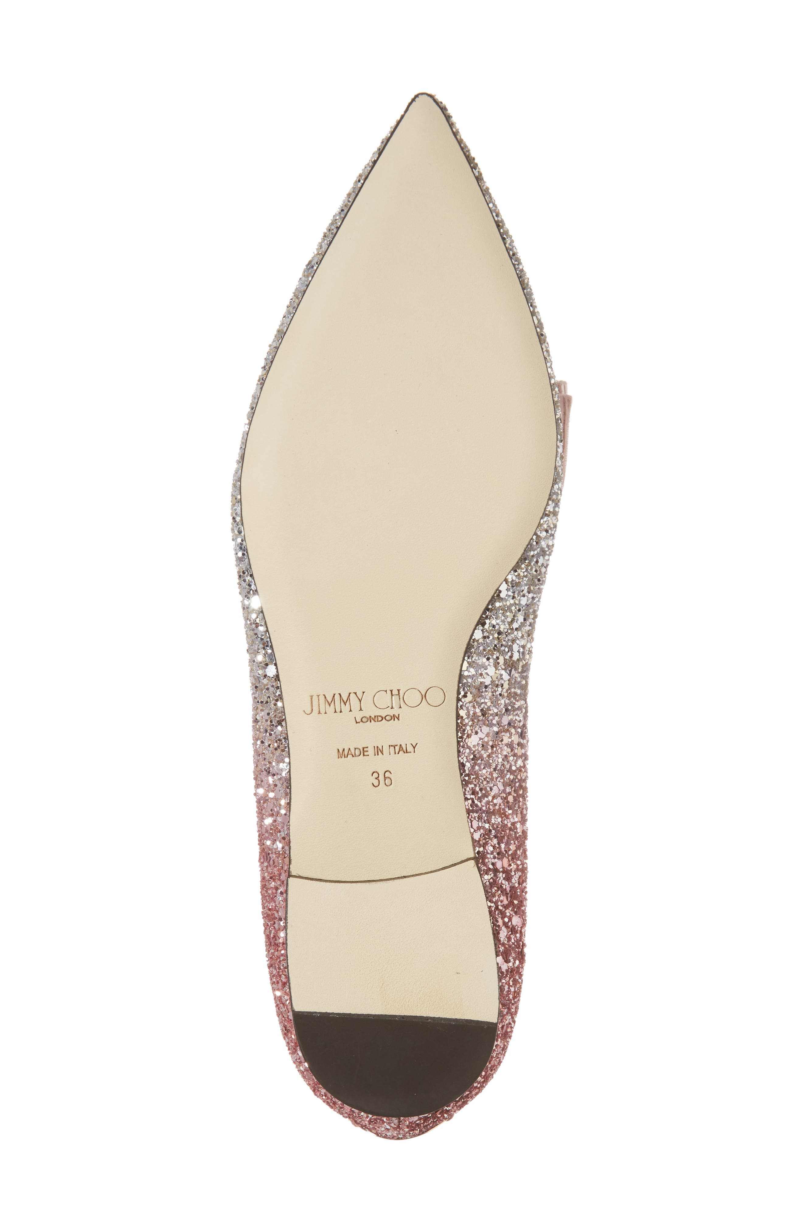 Glitter Bow Flat,                             Alternate thumbnail 6, color,                             Flamingo Pink