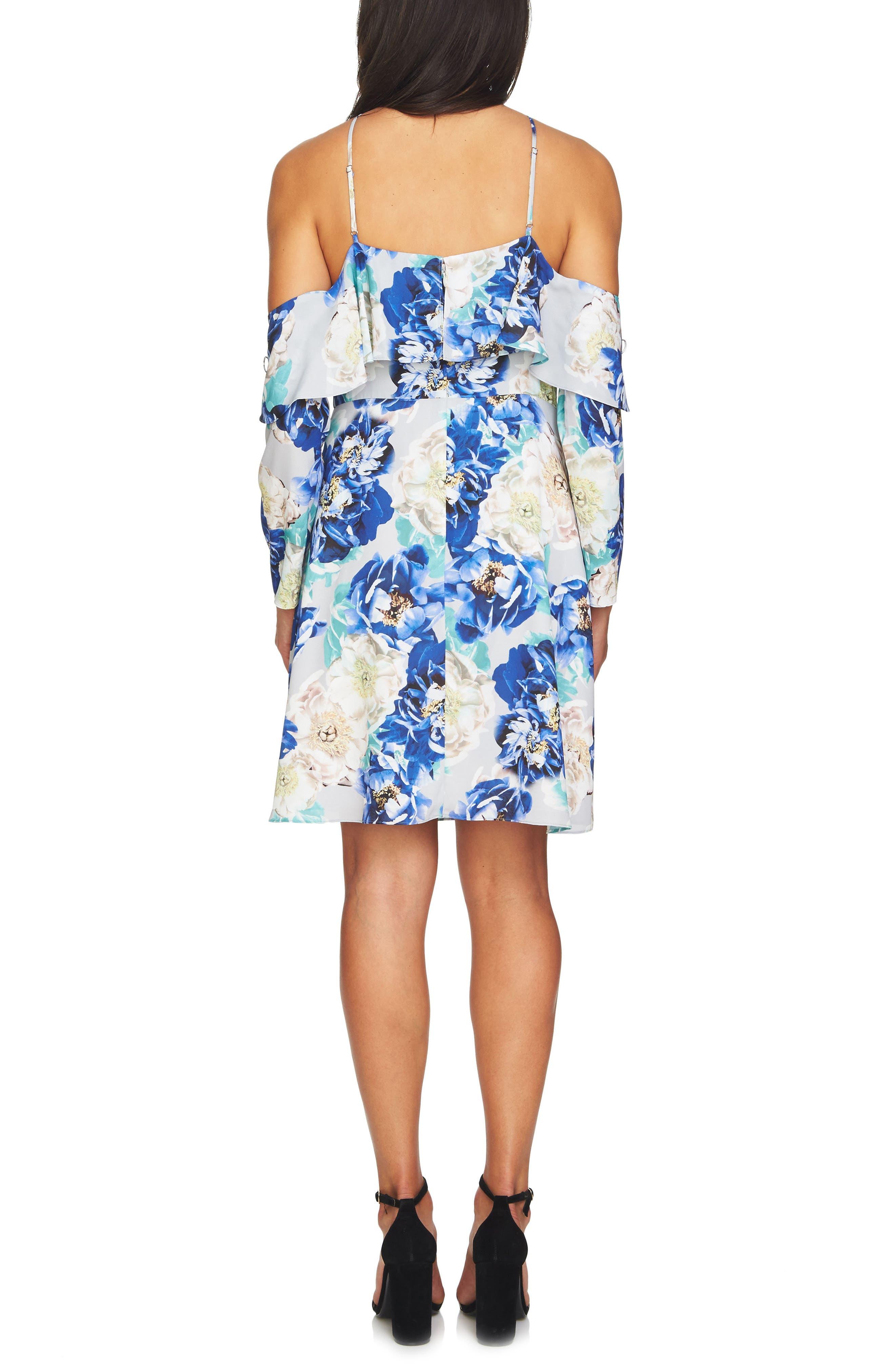 Alternate Image 3  - CeCe Iris Cold Shoulder Halter Dress