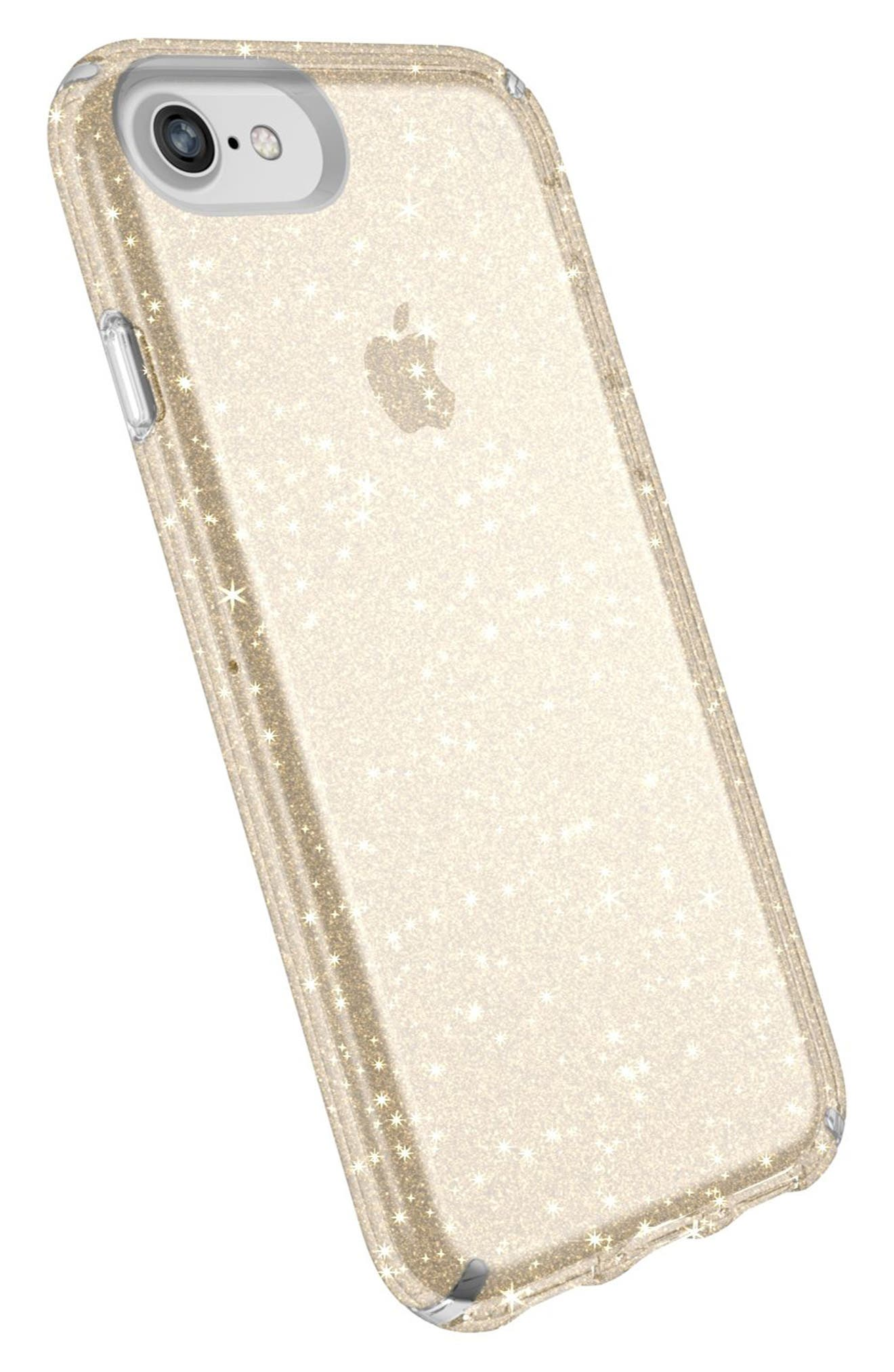 iPhone 6/6s/7/8 Case,                             Alternate thumbnail 4, color,                             Clear With Gold Glitter/ Clear
