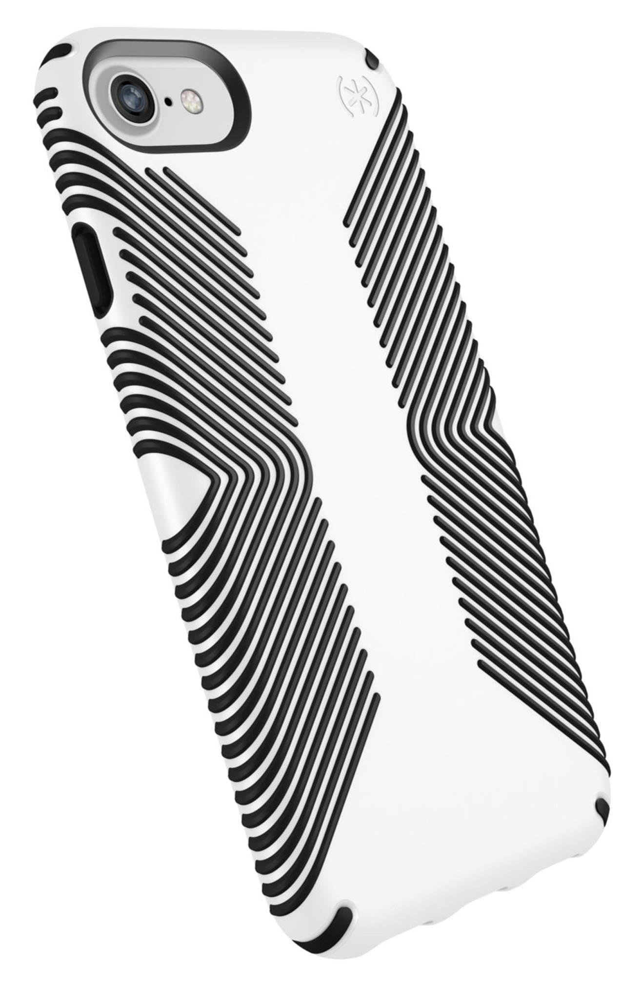 Grip iPhone 6/6s/7/8 Case,                             Alternate thumbnail 2, color,                             White/ Black