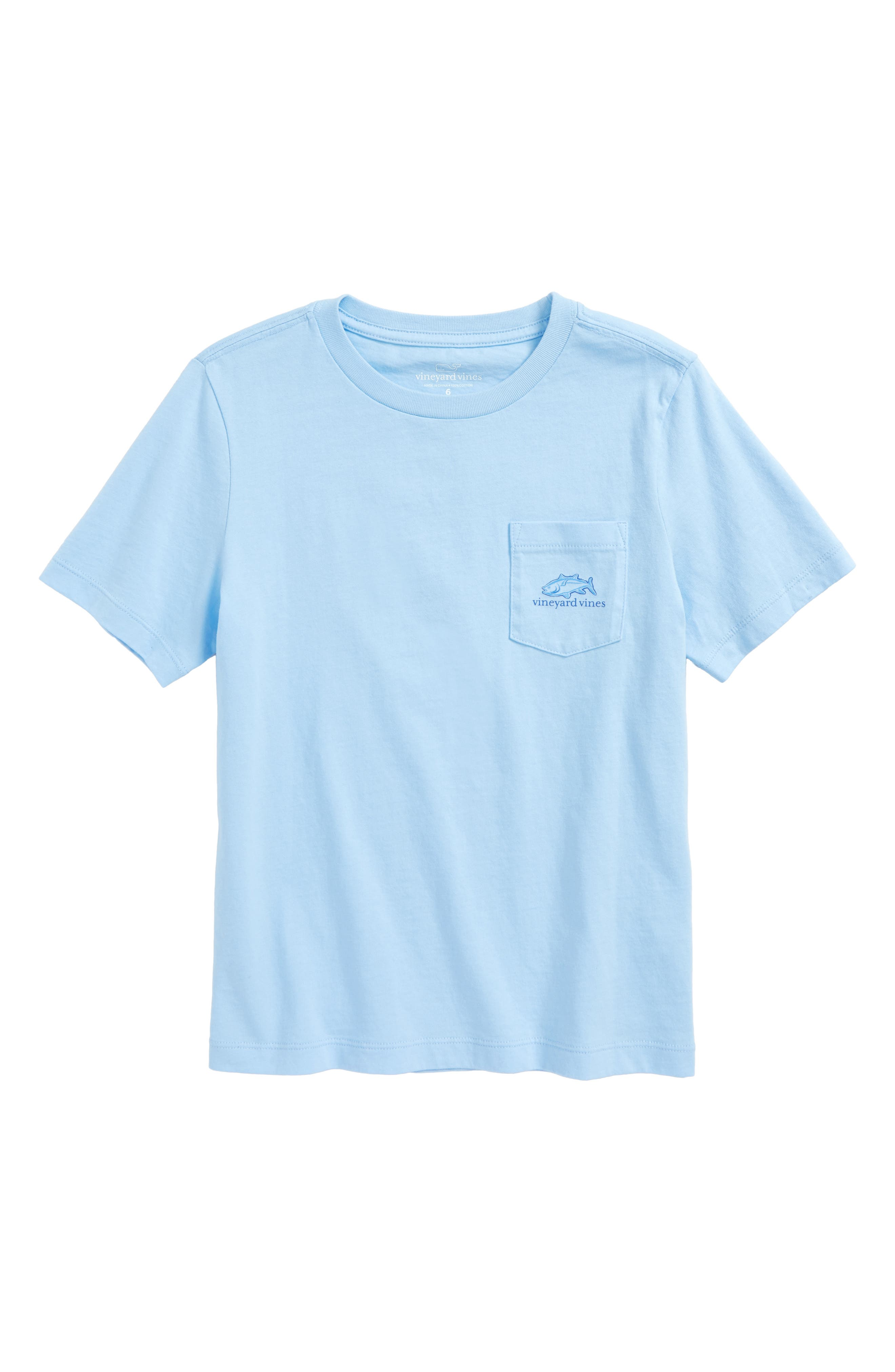 Tuna in Coral Whale Pocket T-Shirt,                             Main thumbnail 1, color,                             Jake Blue