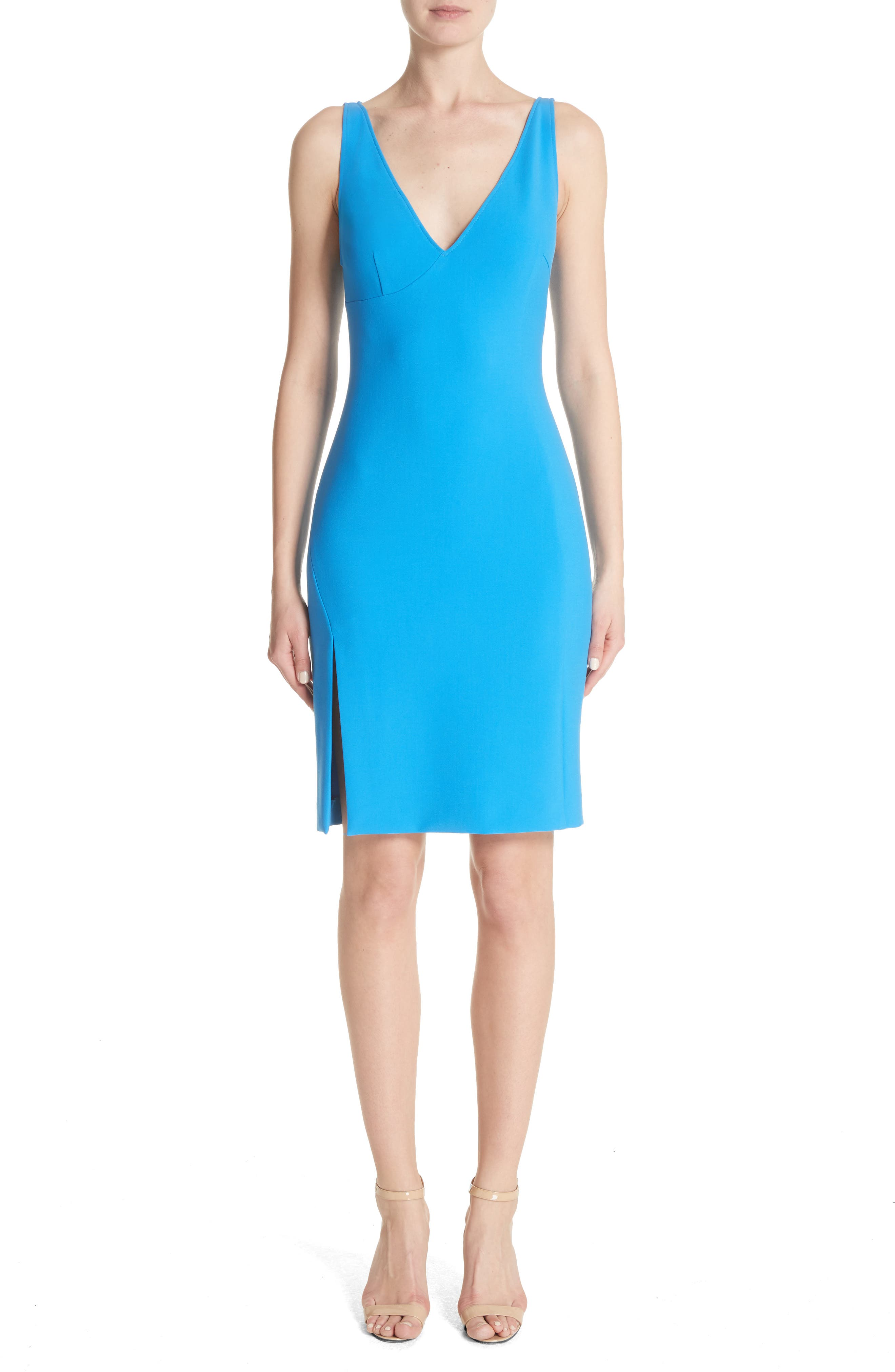 Alternate Image 1 Selected - Versace Collection Stretch Cady Sheath Dress