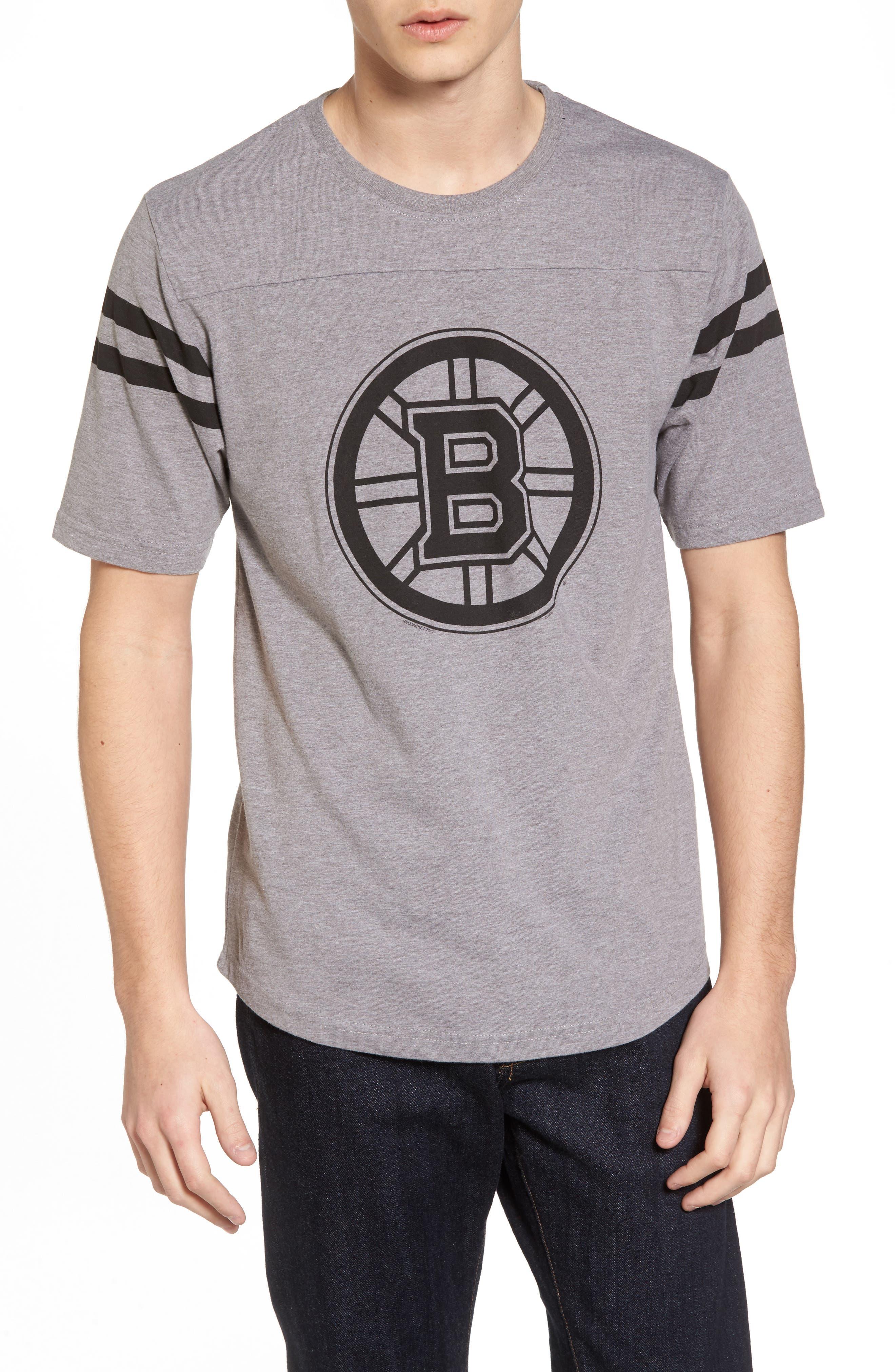 Crosby Boston Bruins T-Shirt,                             Main thumbnail 1, color,                             Heather Grey