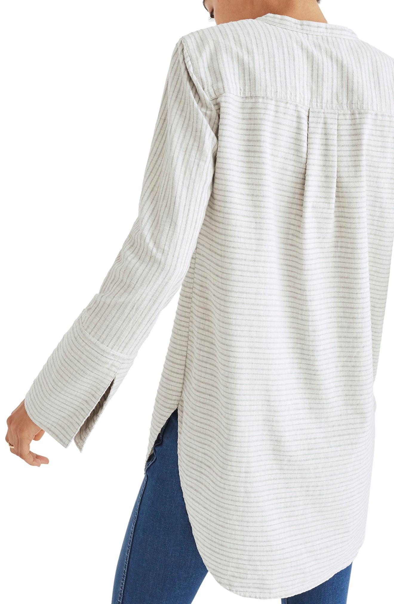 Split Cuff Tunic Shirt,                             Alternate thumbnail 2, color,                             Weathered Concrete