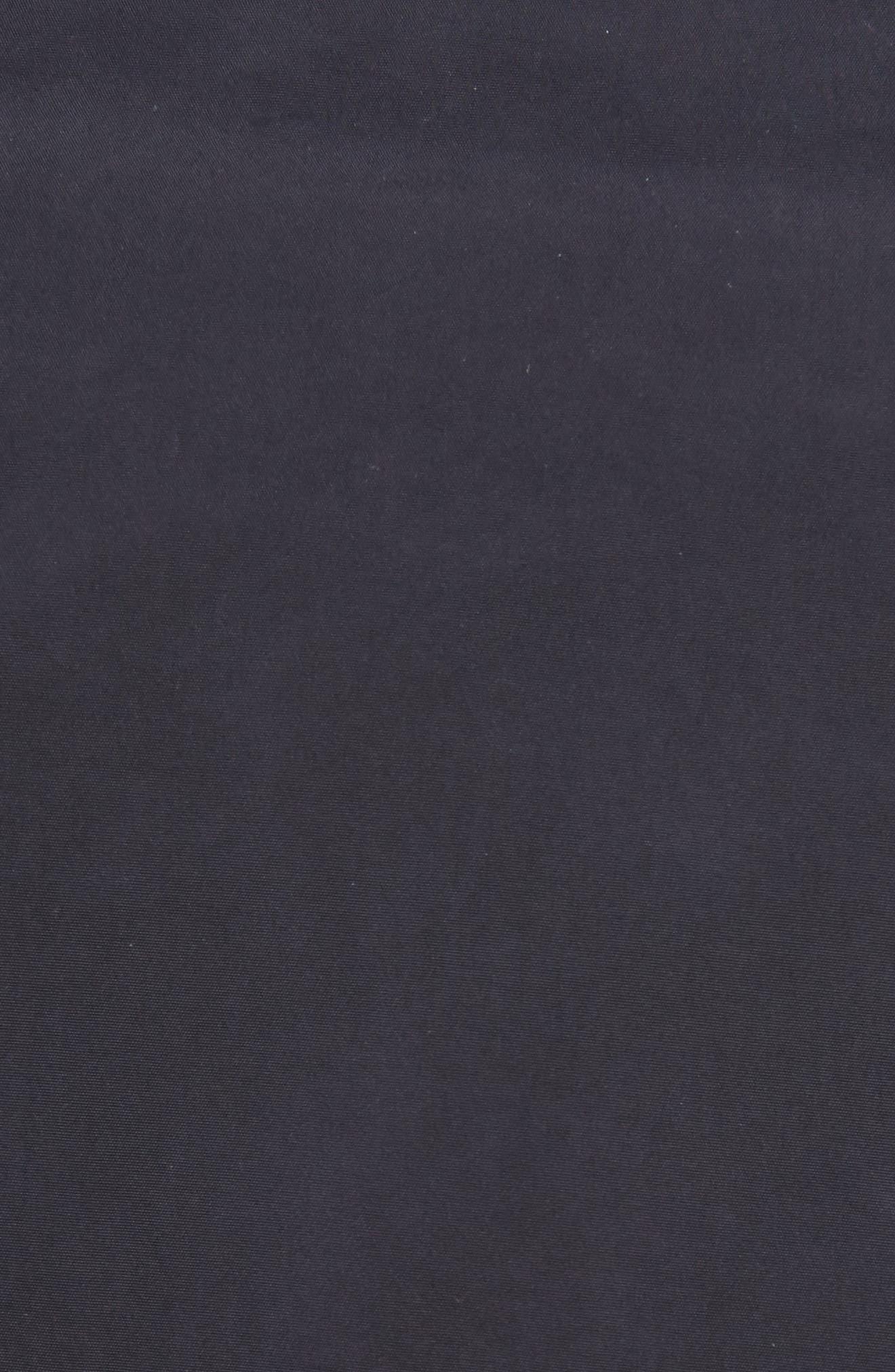 Reversible Sheer Hem Trench Coat,                             Alternate thumbnail 5, color,                             Navy