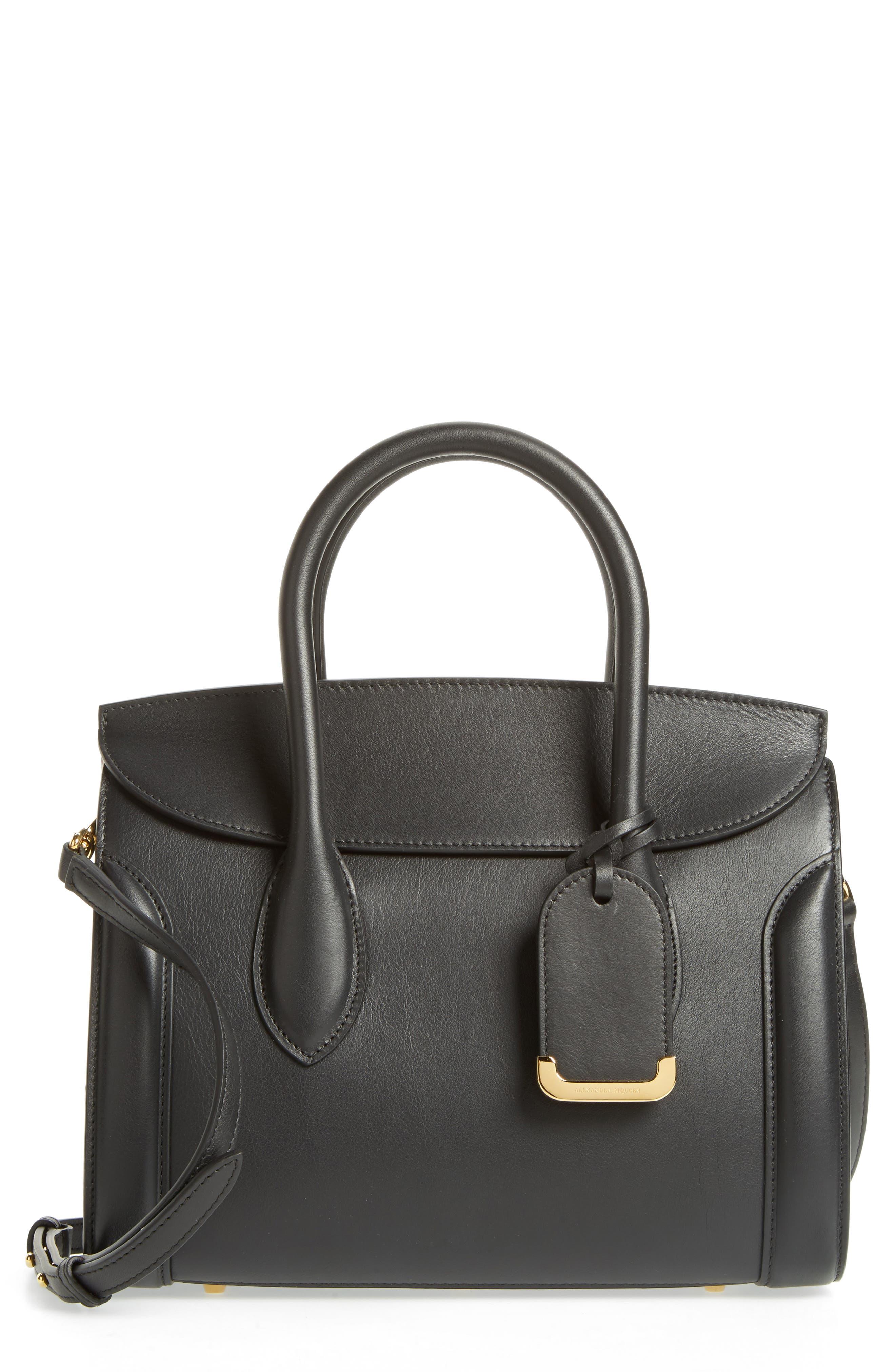 Alexander McQueen Heroine 30 Sweet Calfskin Leather Shopper