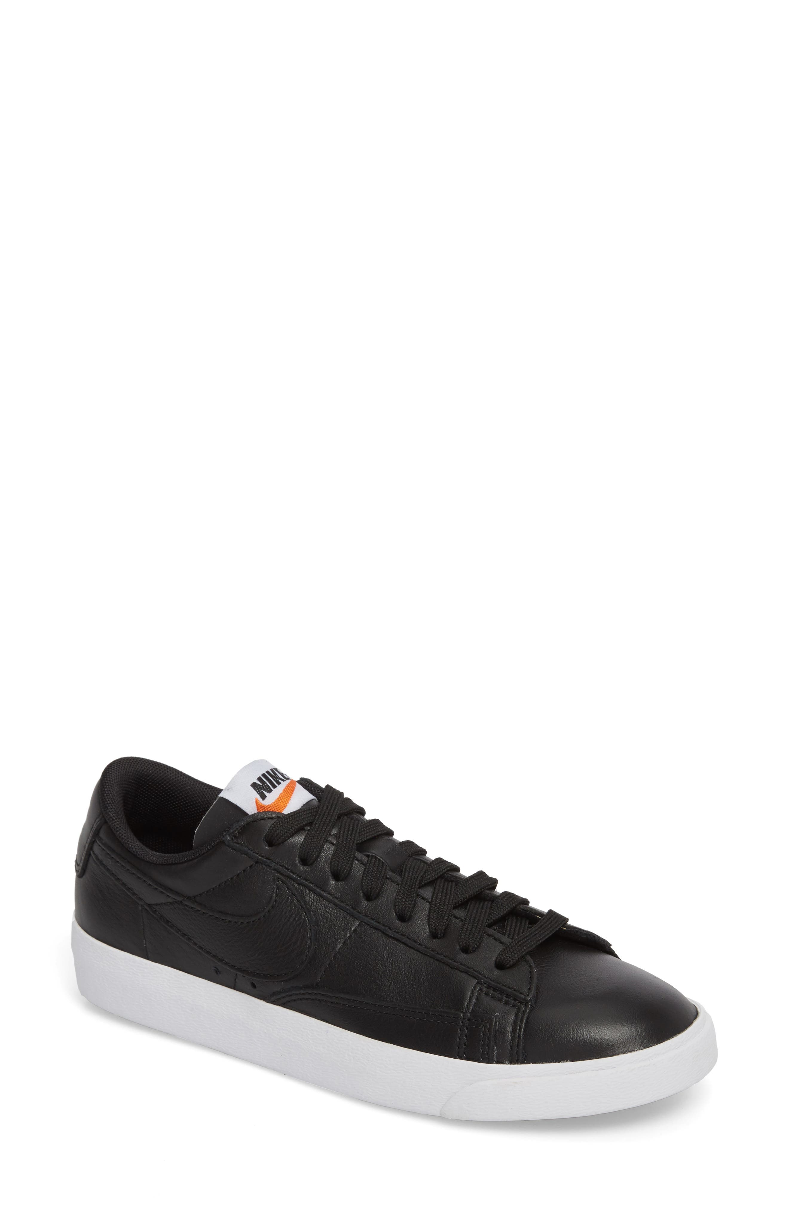 Blazer Low LE Basketball Shoe,                             Main thumbnail 1, color,                             Black/ Black/ White