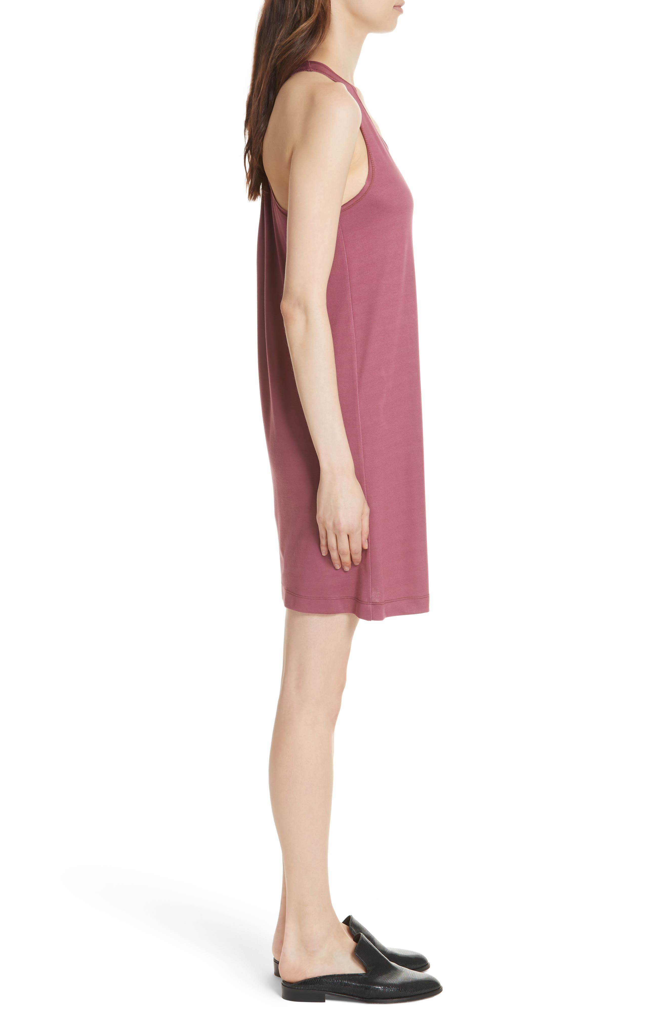 Drummond Twist Back Jersey Tank Dress,                             Alternate thumbnail 3, color,                             Grenada/ White