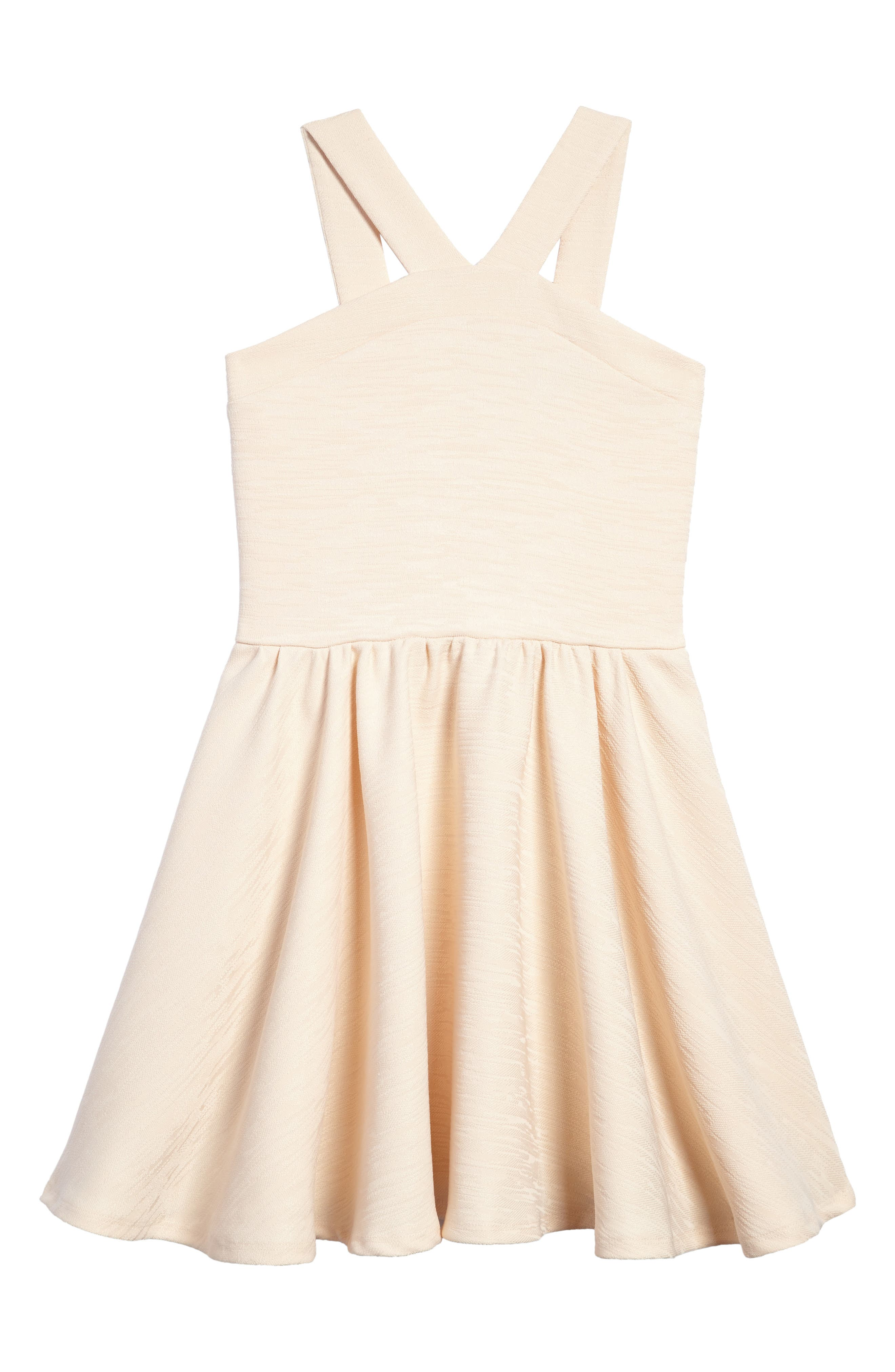 Stephanie Halter Dress,                             Main thumbnail 1, color,                             Beige