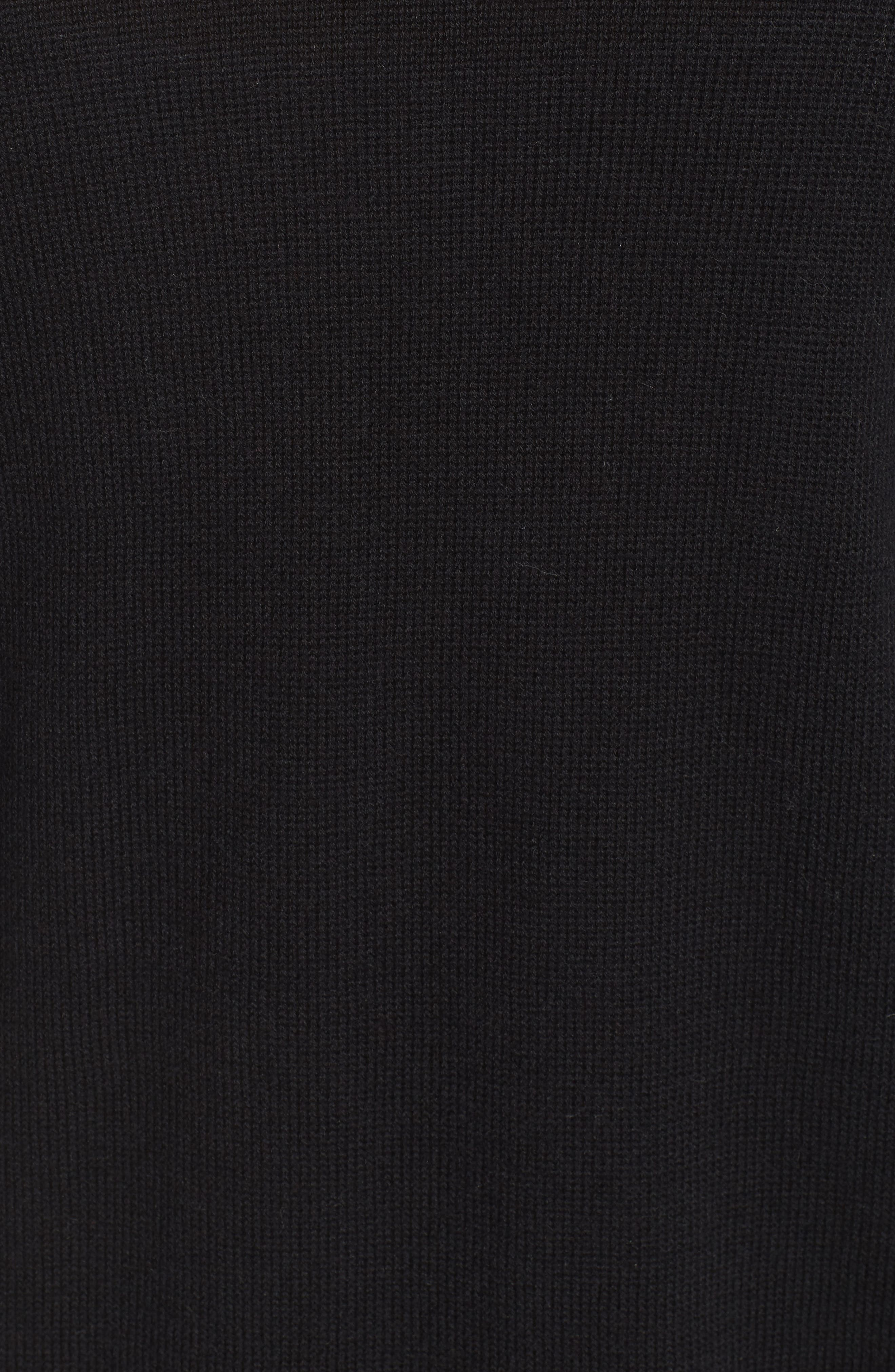 Ruffle Sleeve Cardigan,                             Alternate thumbnail 5, color,                             Black